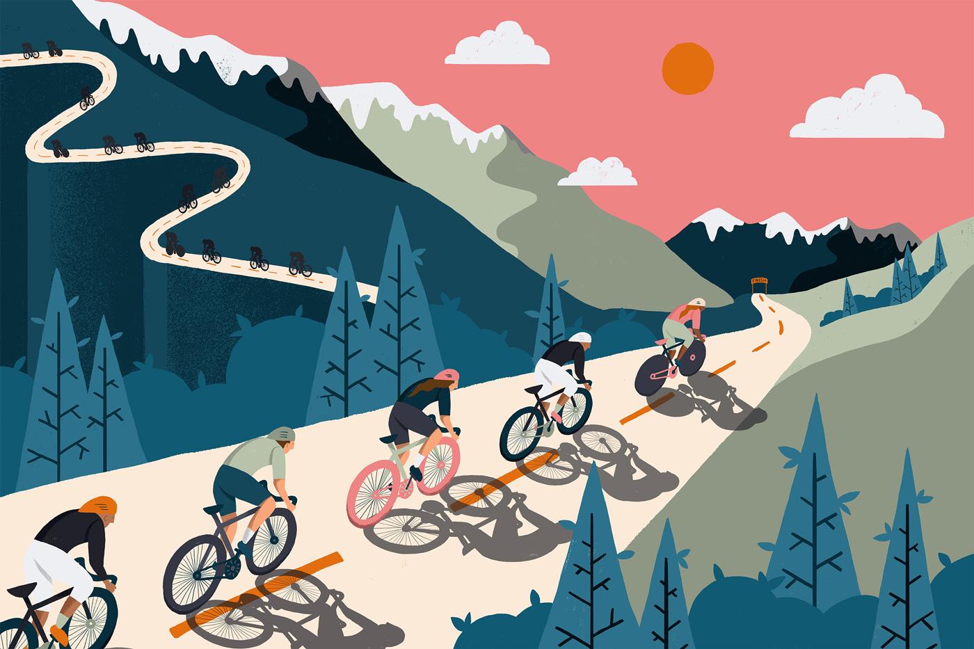 BICYCLE RACE MURAL WALLPAPER