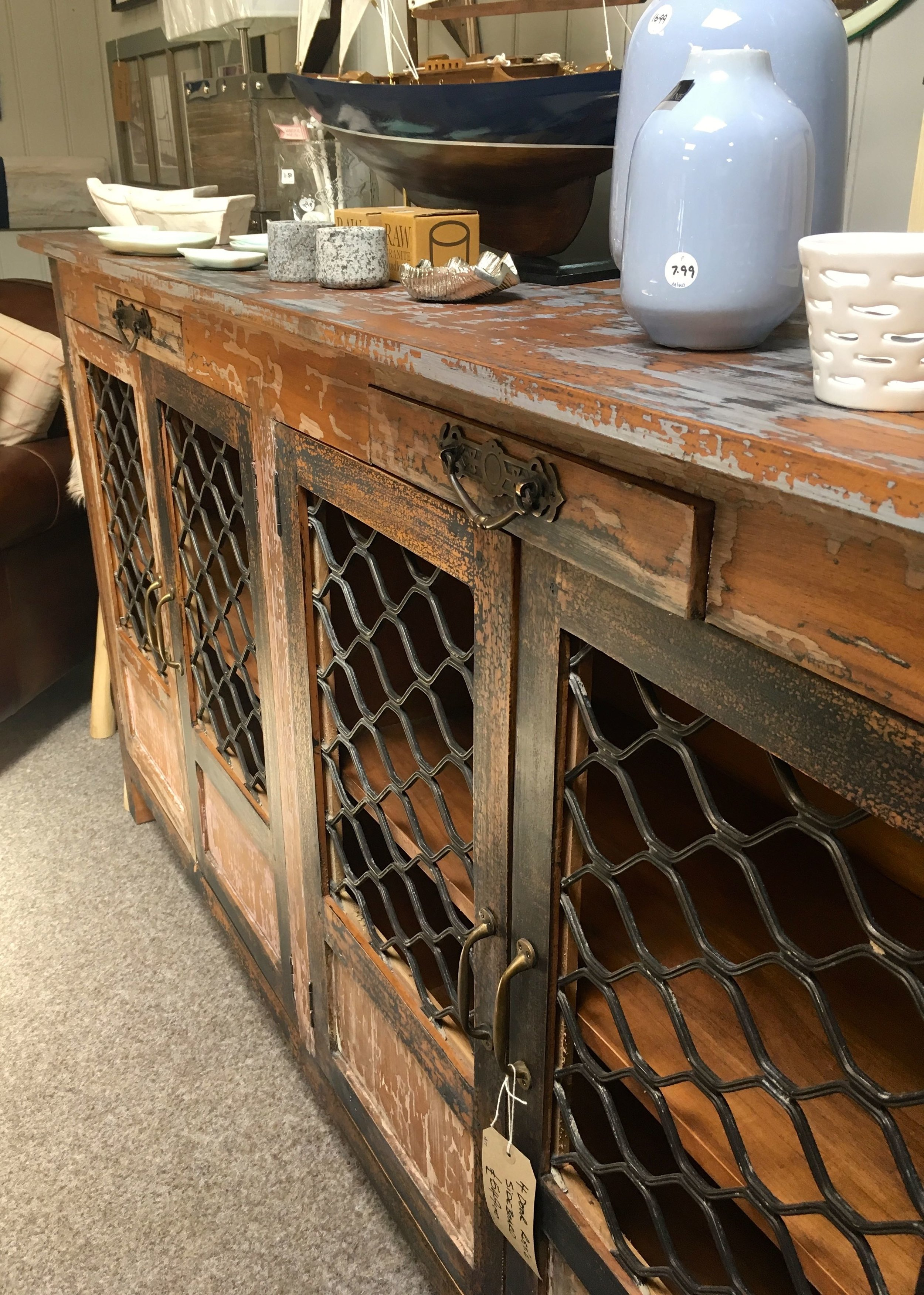 I fell in love with this wire fronted sideboard