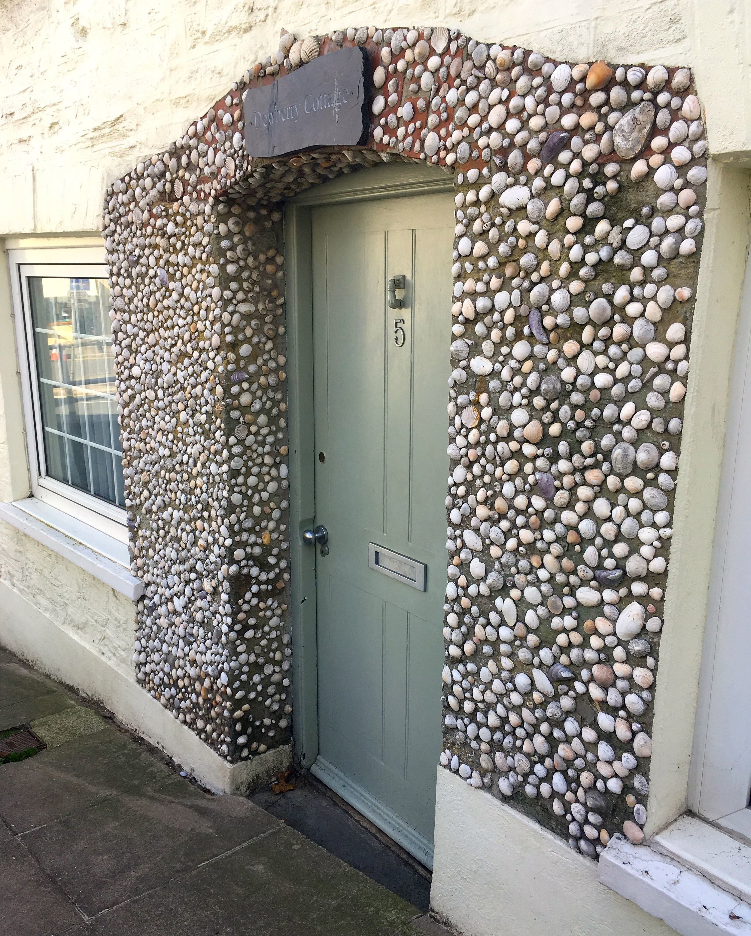 A Devonian front door, with pebbles
