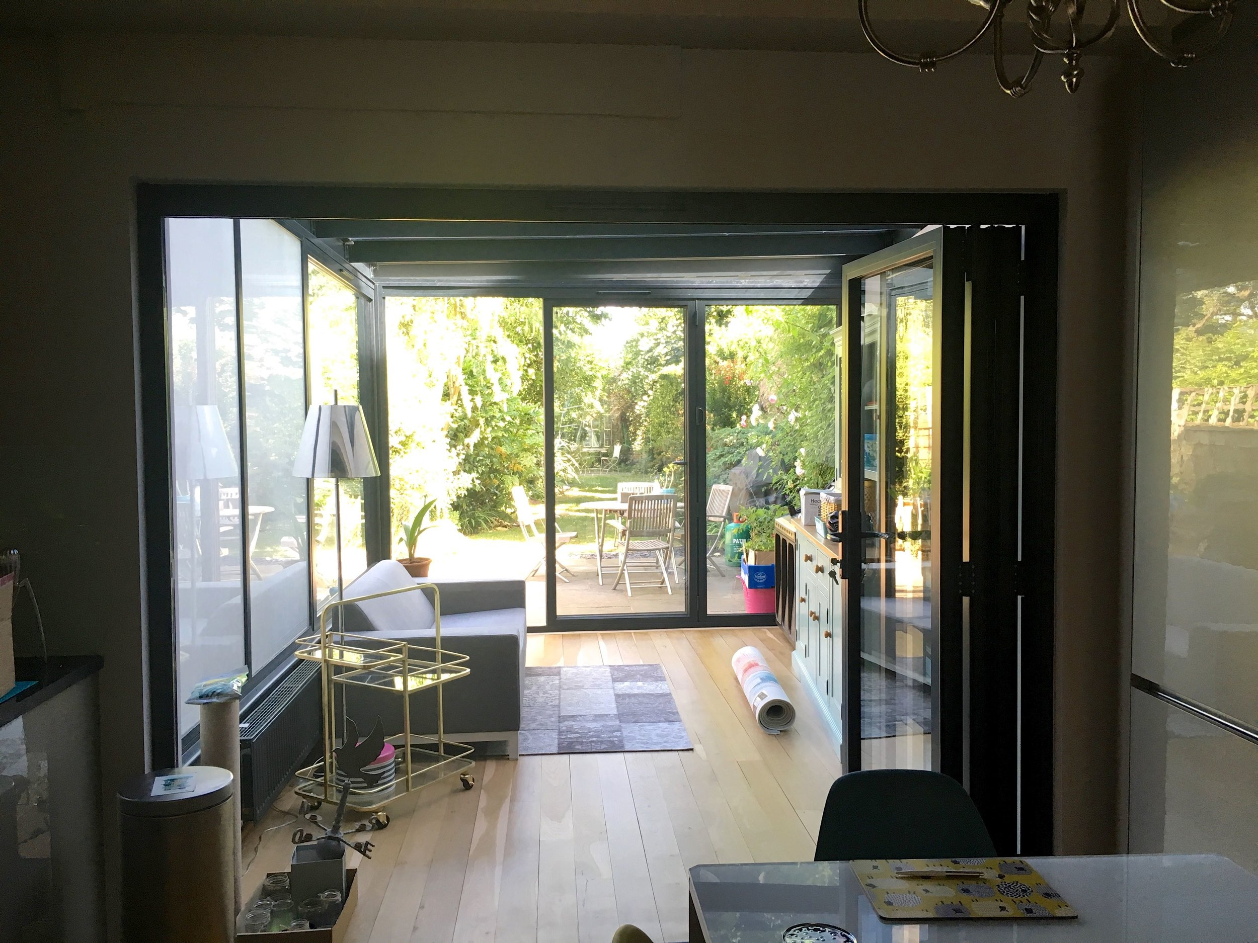 The bifold doors really open up the back of the house