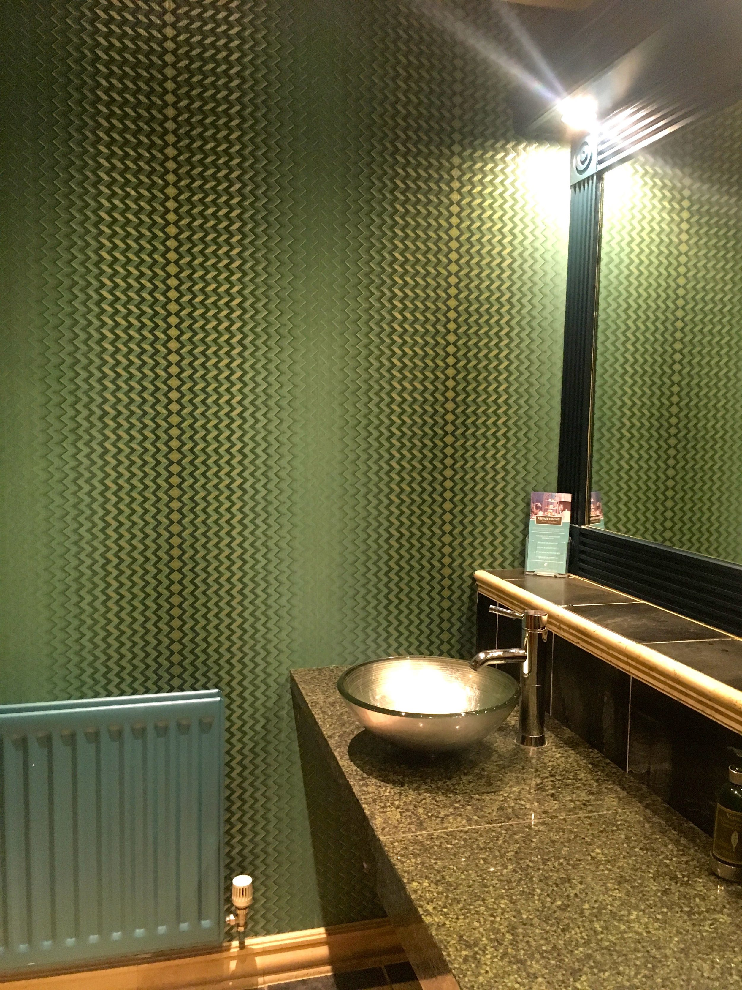 geometric and metallic wallpaper