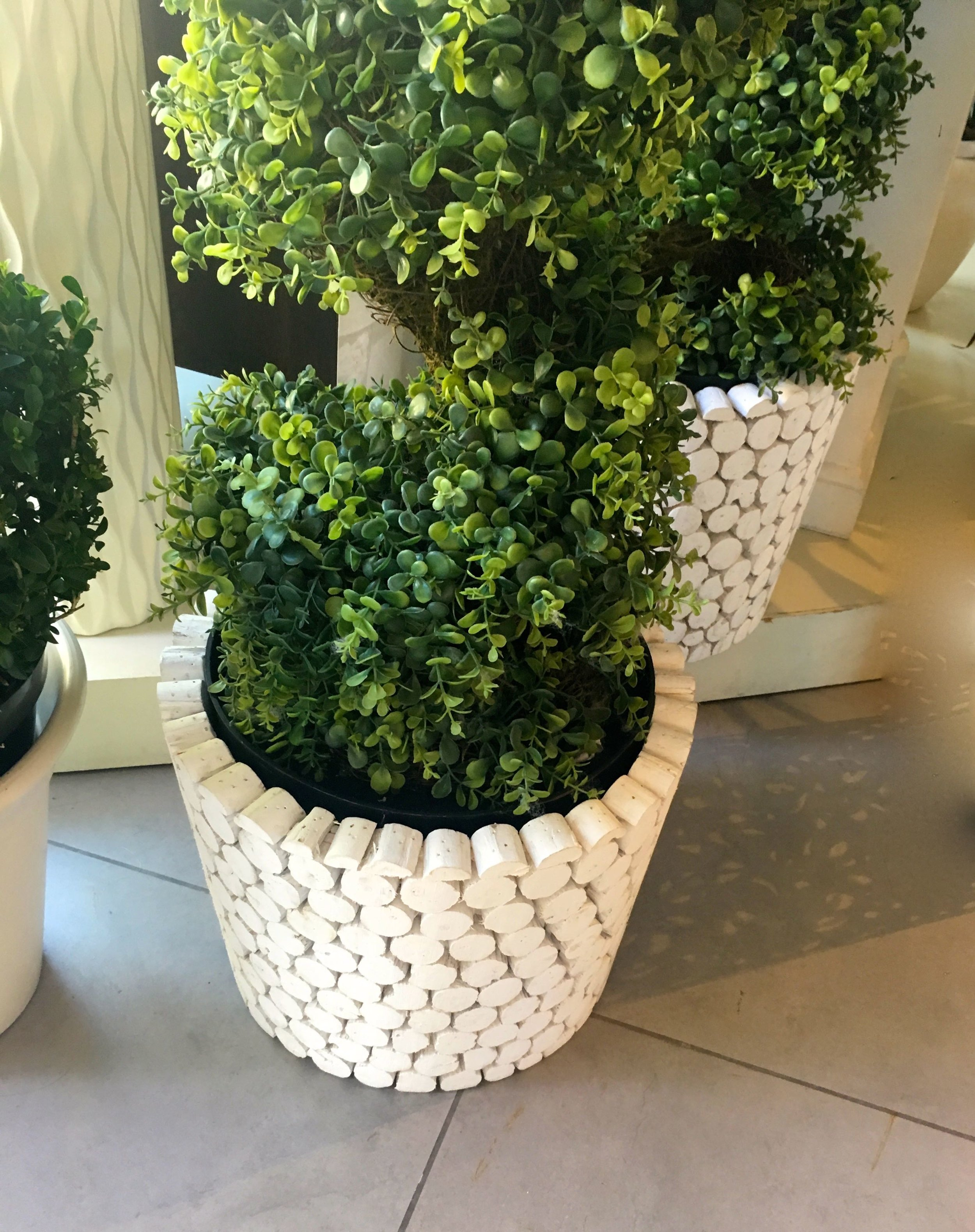 Planters with texture that catch the eye