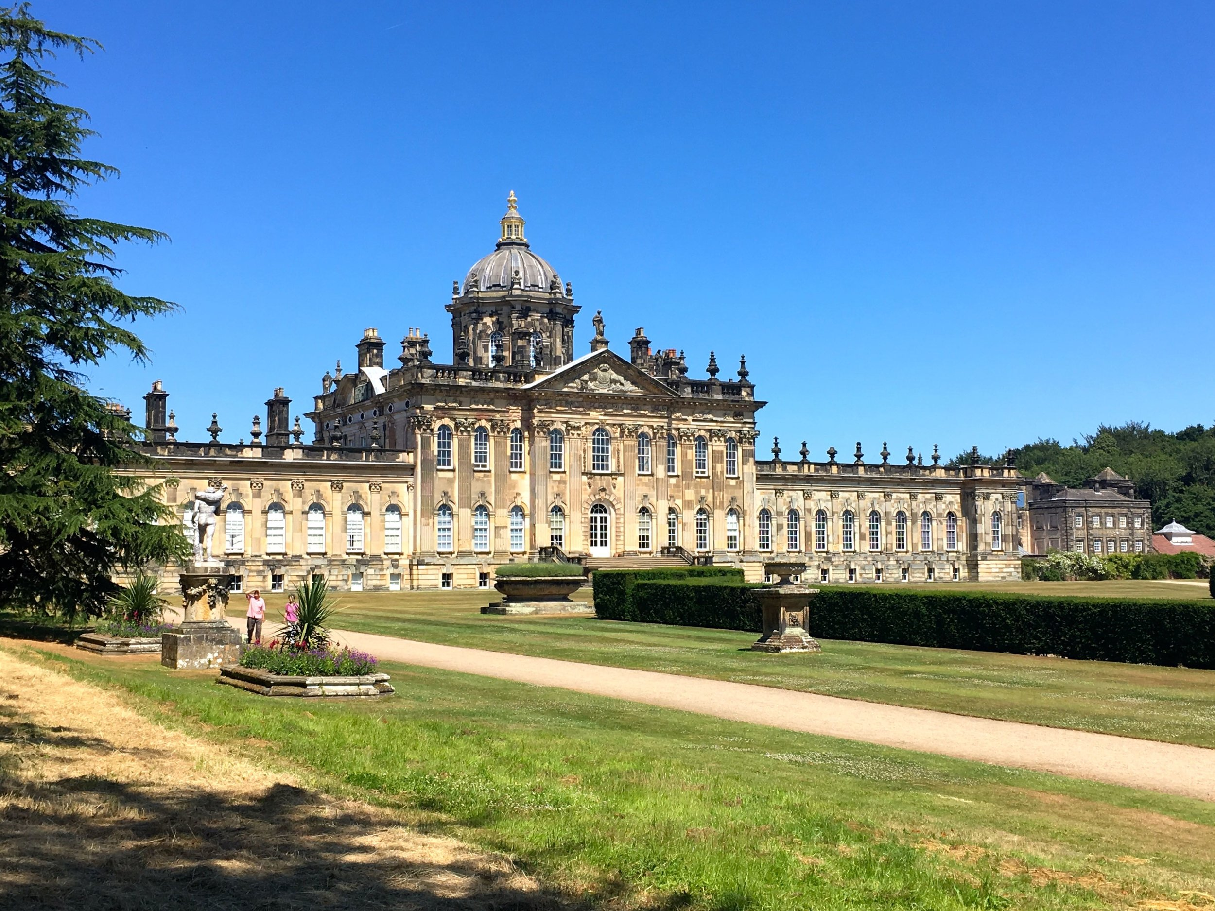Castle Howard against the blue Yorkshire sky