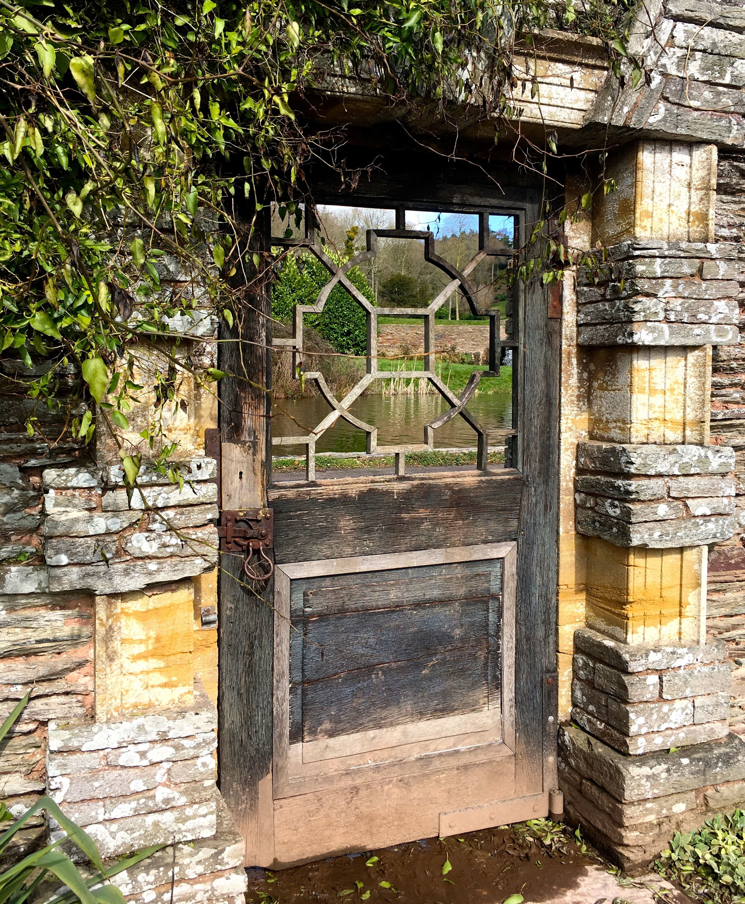 A pretty gate to entice you in to this part of the garden at Hestercombe
