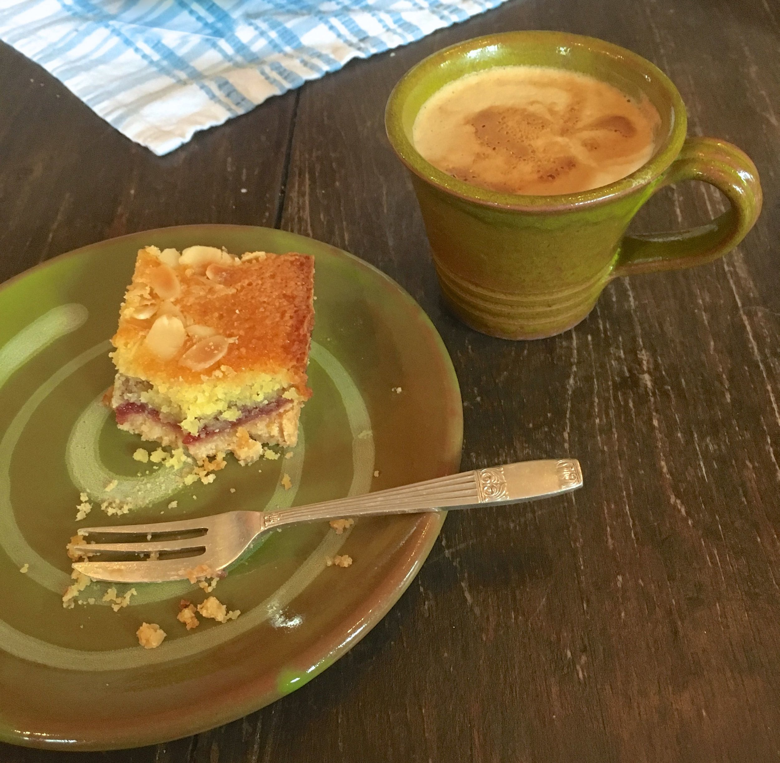 COFFEE AND CAKE AT PITS AND PITHOI