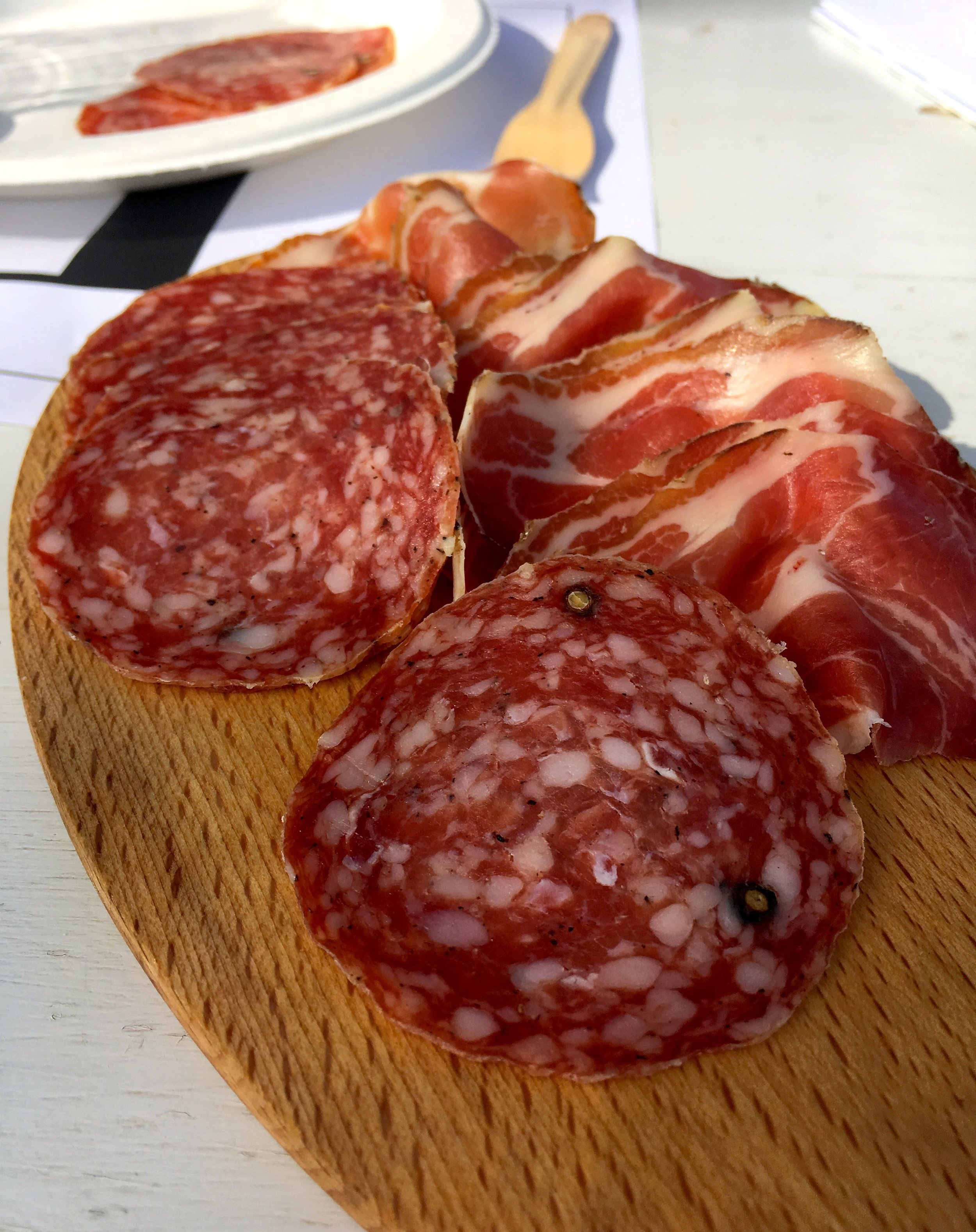 local charcuterie to accompany the wines