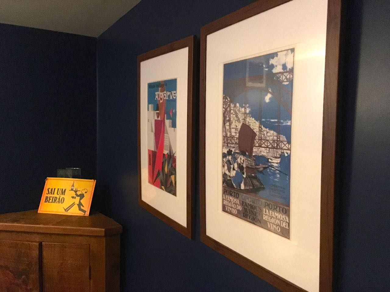 artwork and a quirky cupboard