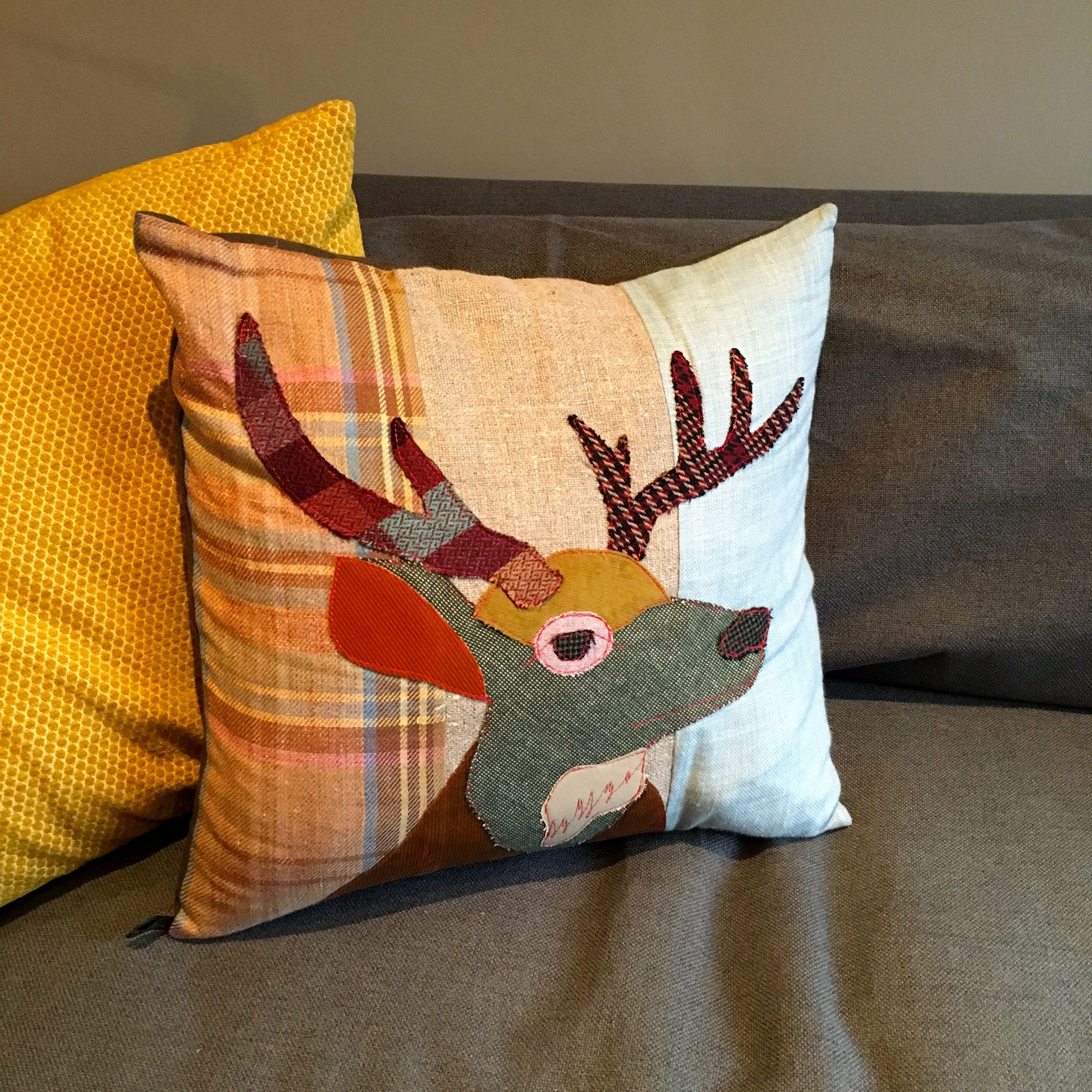 A stag cushion for me
