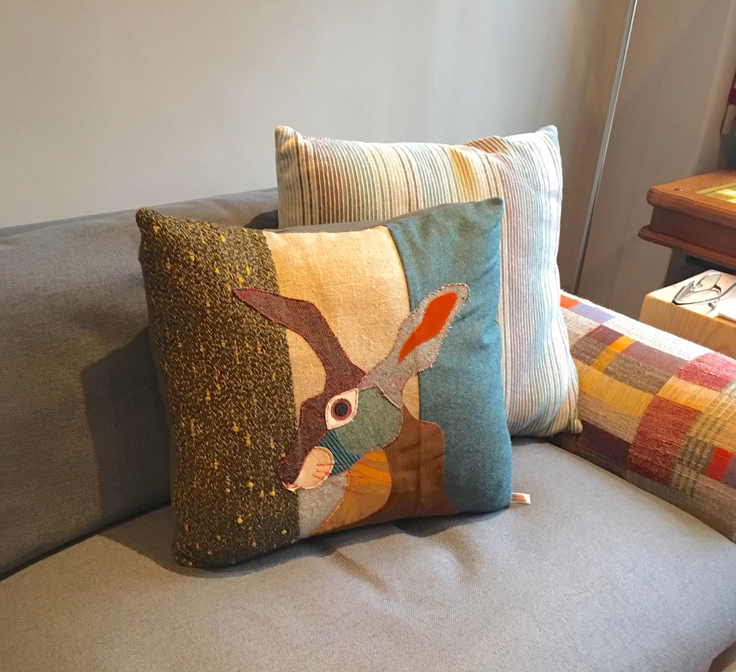 A hare cushion for MOH