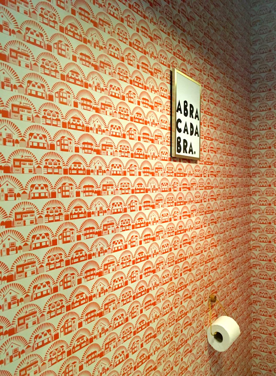 Magic artwork on a patterned wall at Grand Designs Live