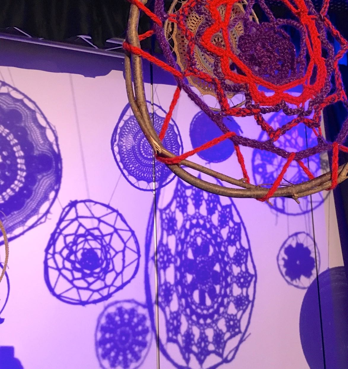 matching the mandala to the shadows at the Norfolk Makers Festival