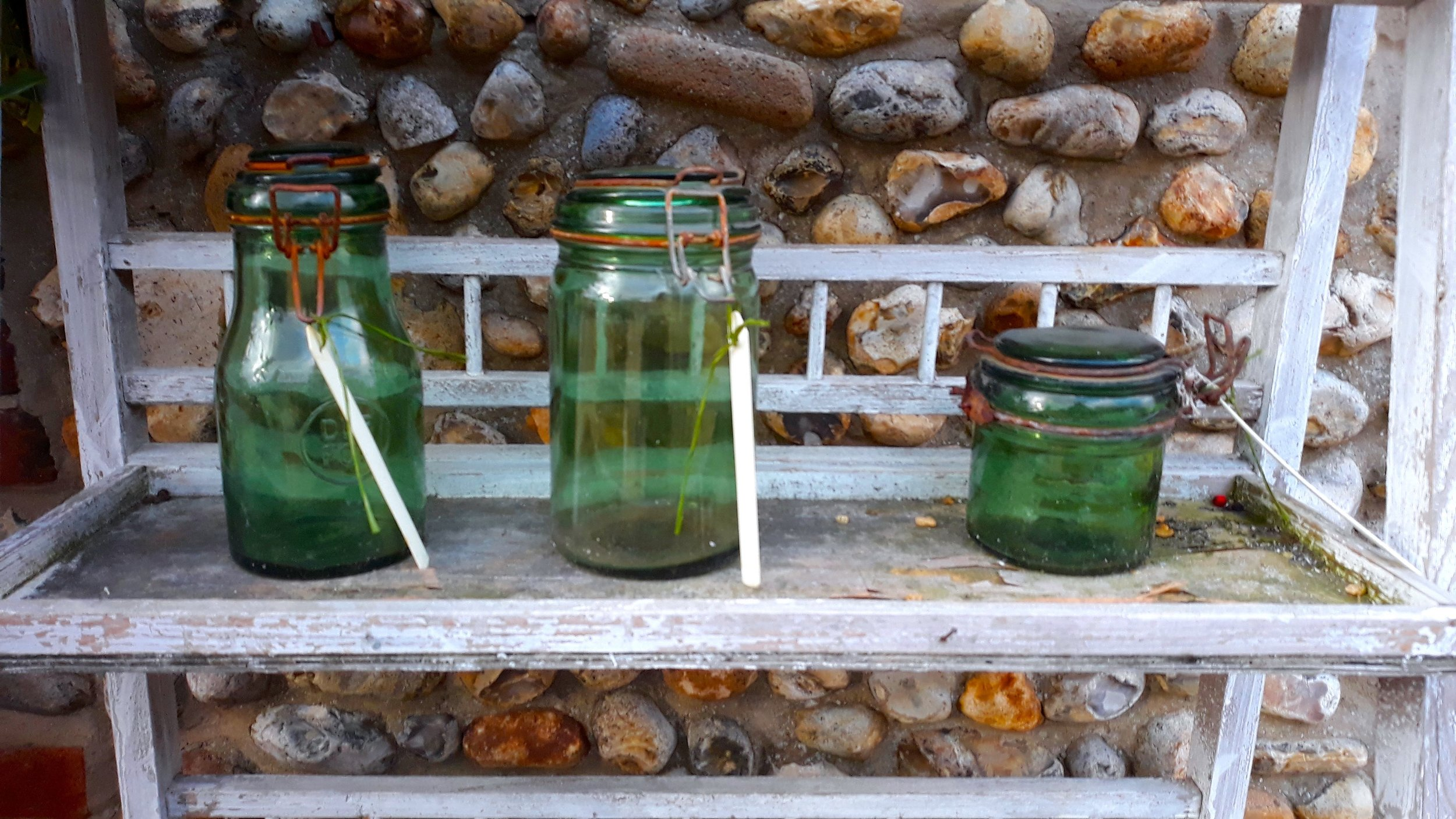 THREE GREEN BOTTLES…