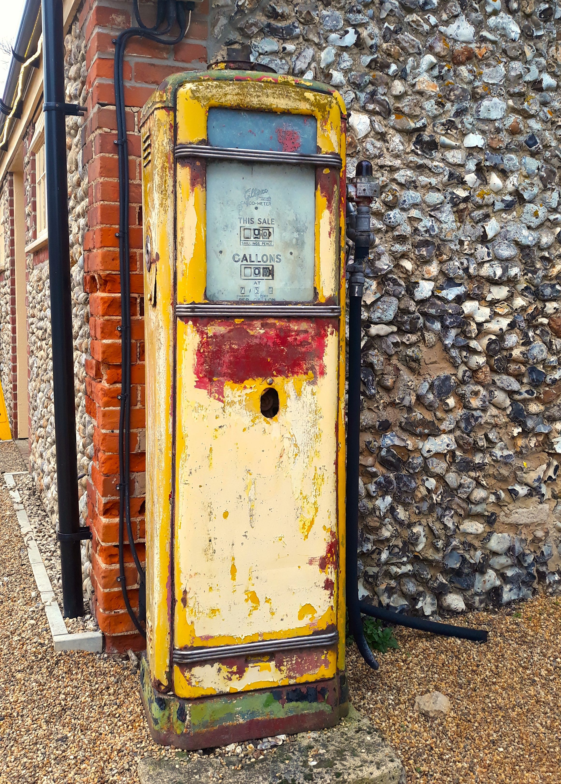 An old fashioned petrol pump
