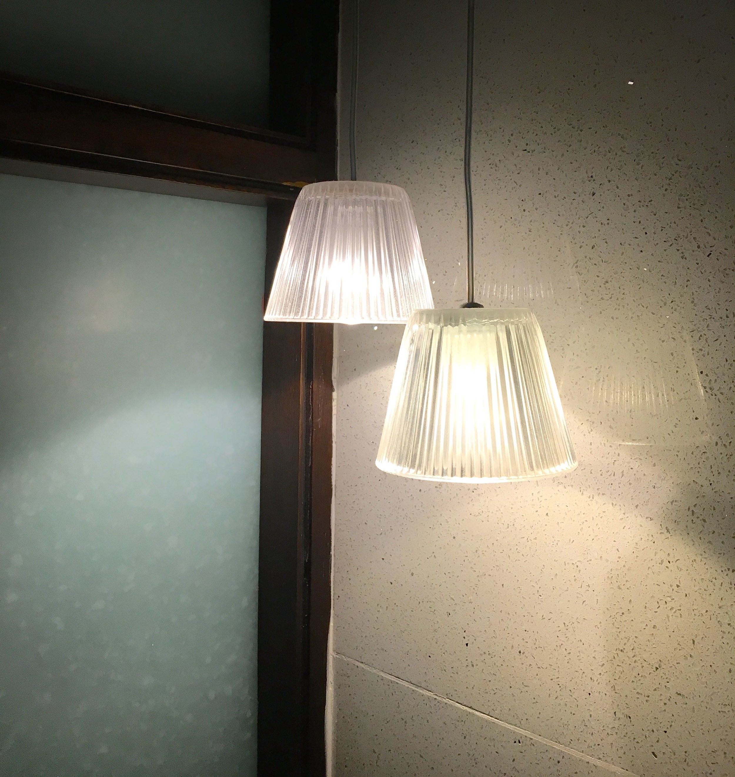 simple and classic glass light shades