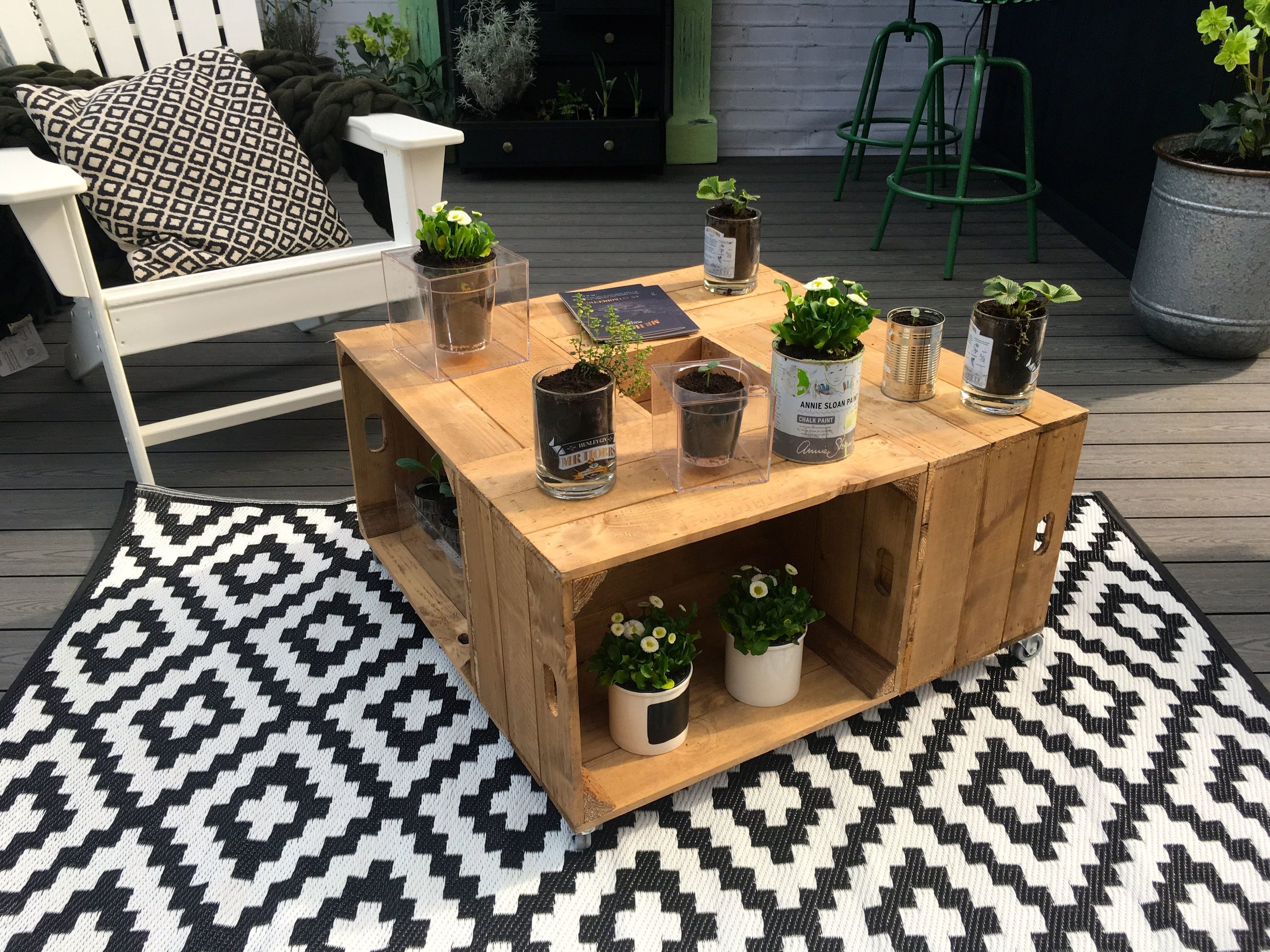Crates joined together to make a stylish table.jpg