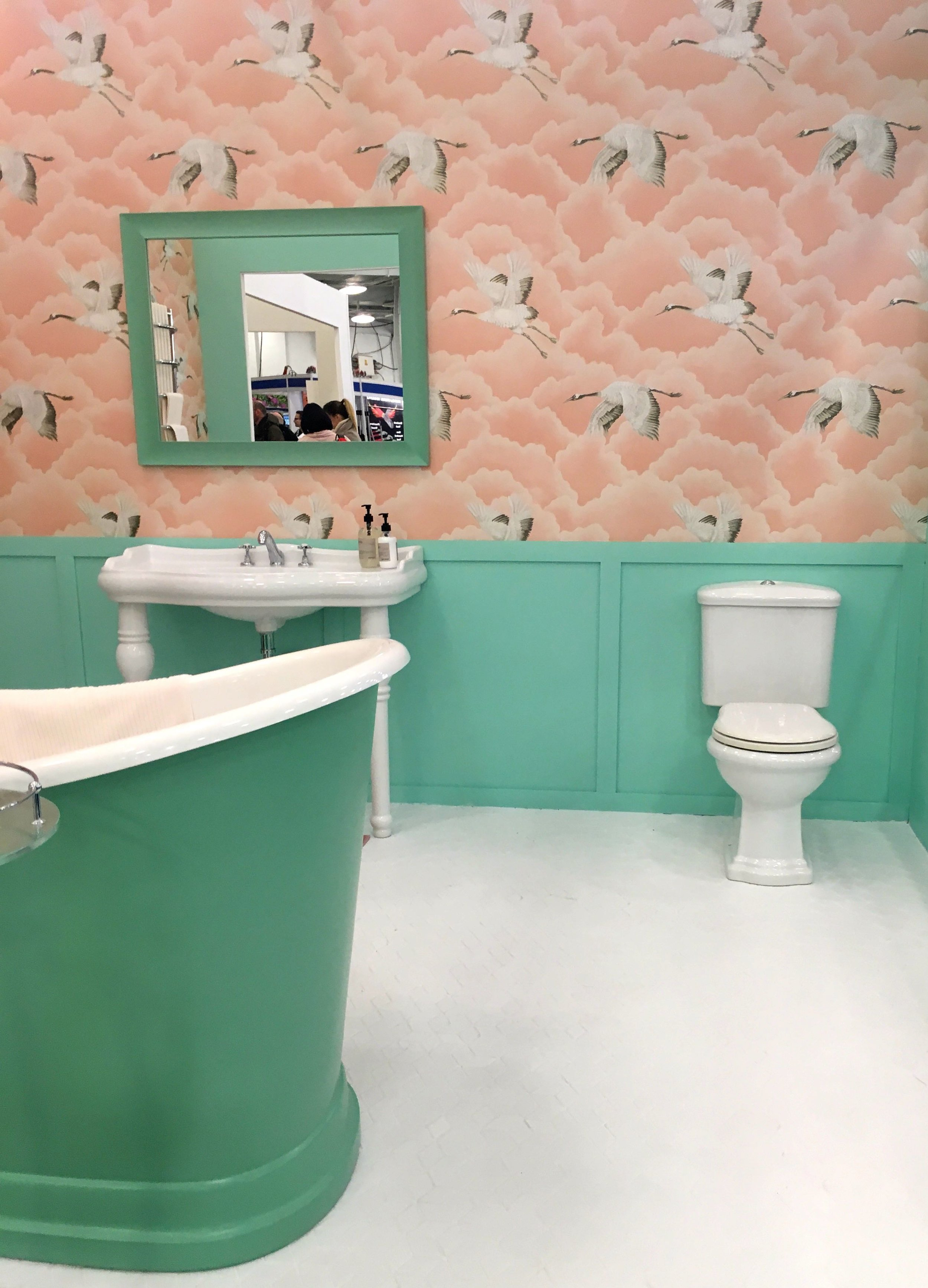 Pinks and greens in a Miami style at the Ideal HOme Show