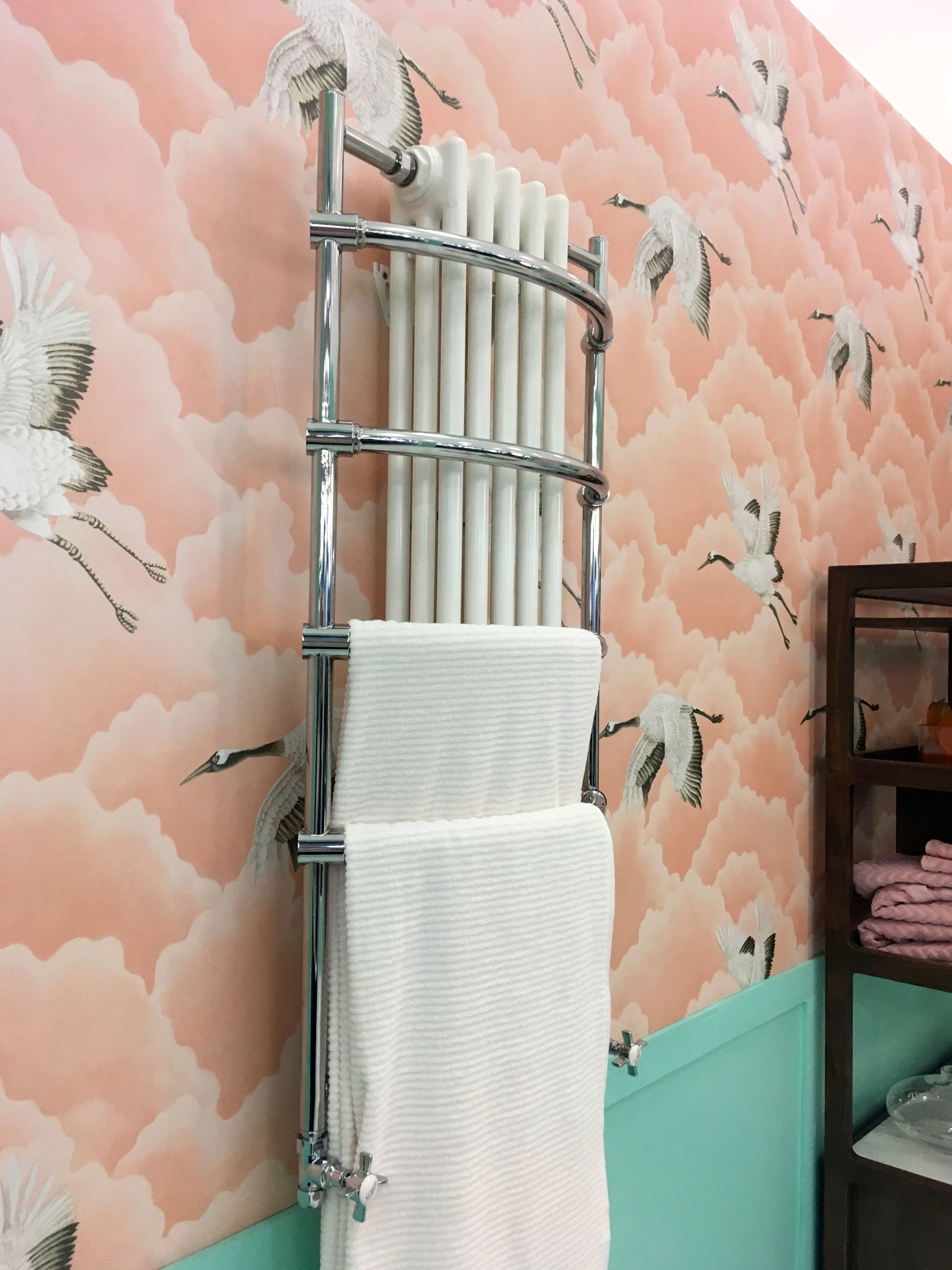 Even vintage bathrooms need somewhere to hang their towels