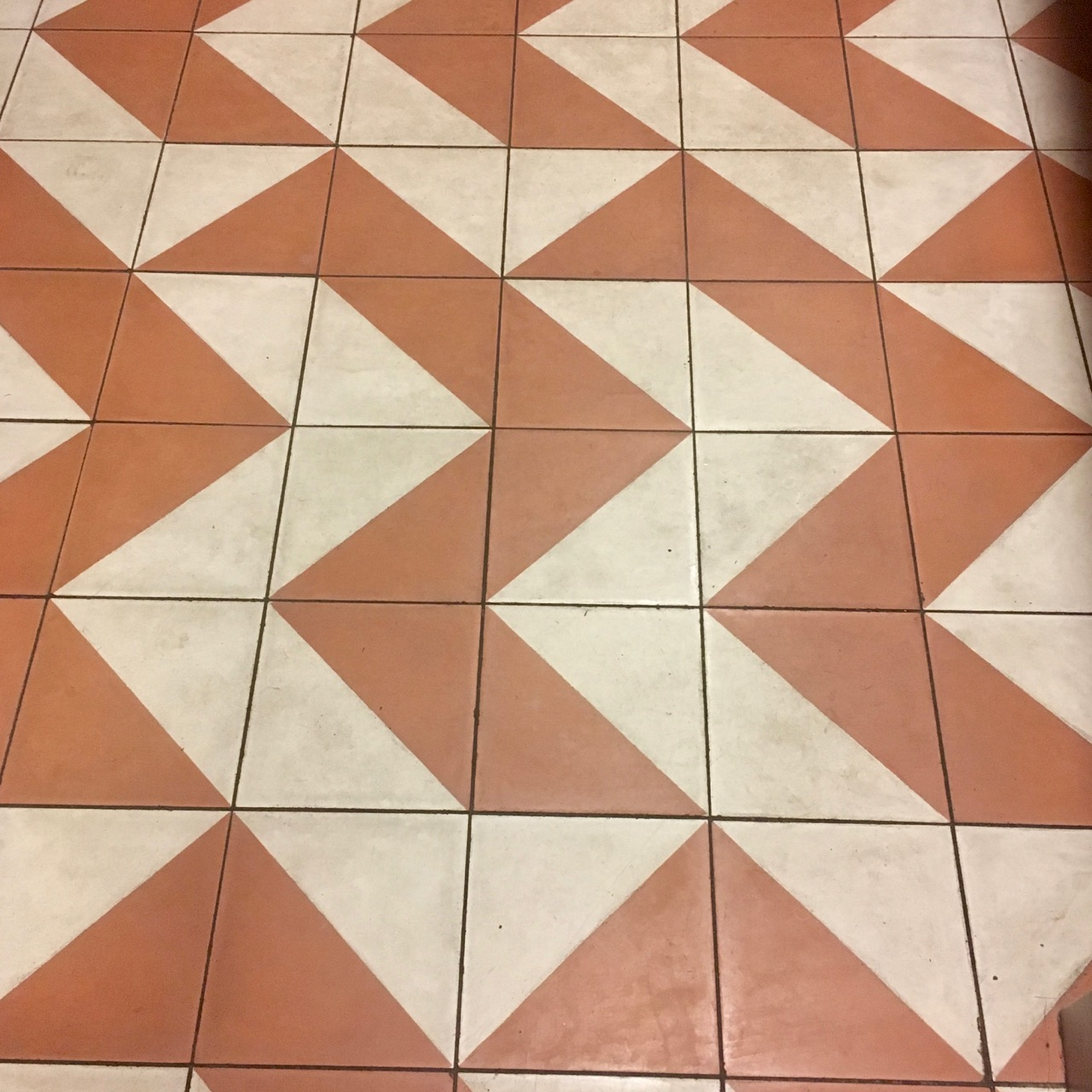 A geometric - and possibly grubby - floor