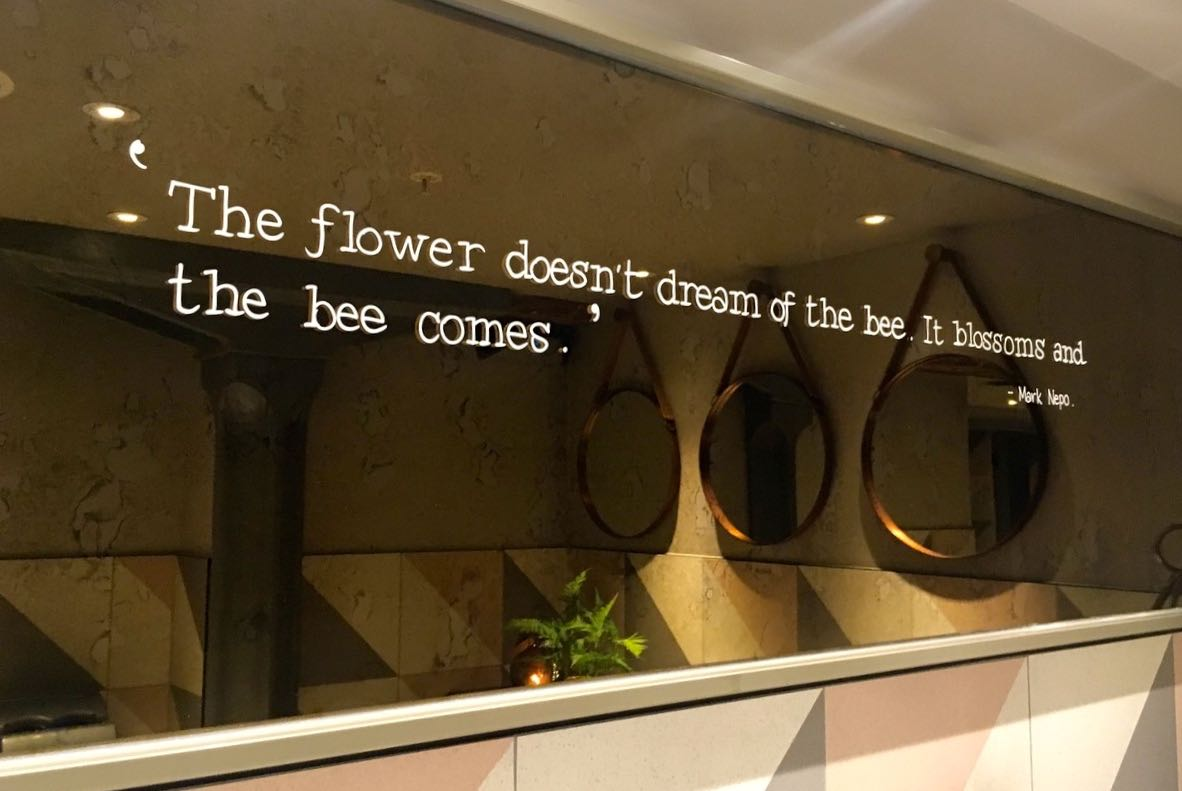 the flower doesn't dream of the bee