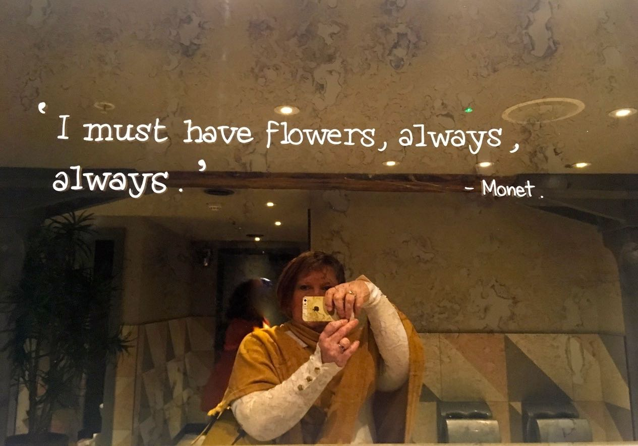 I must have flowers always, Monet
