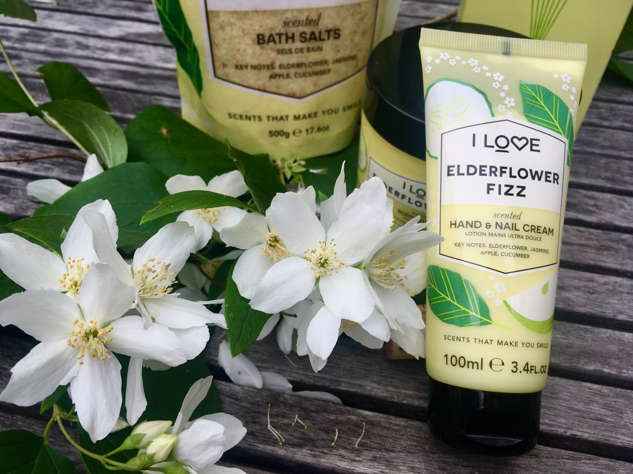 I love cosmetics elderflower fizz hand and nail cream