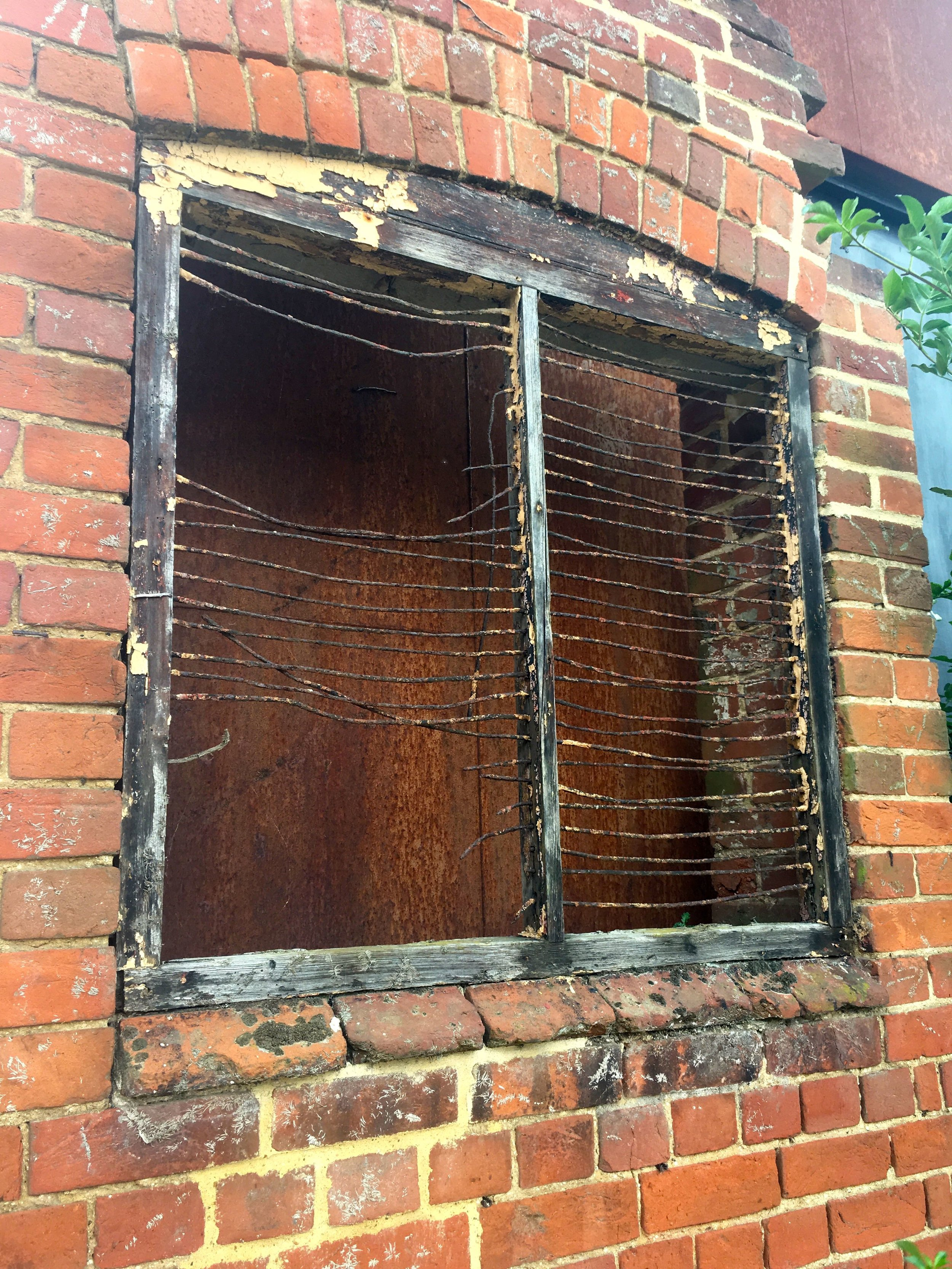 The windows at the dovecote have seen better days