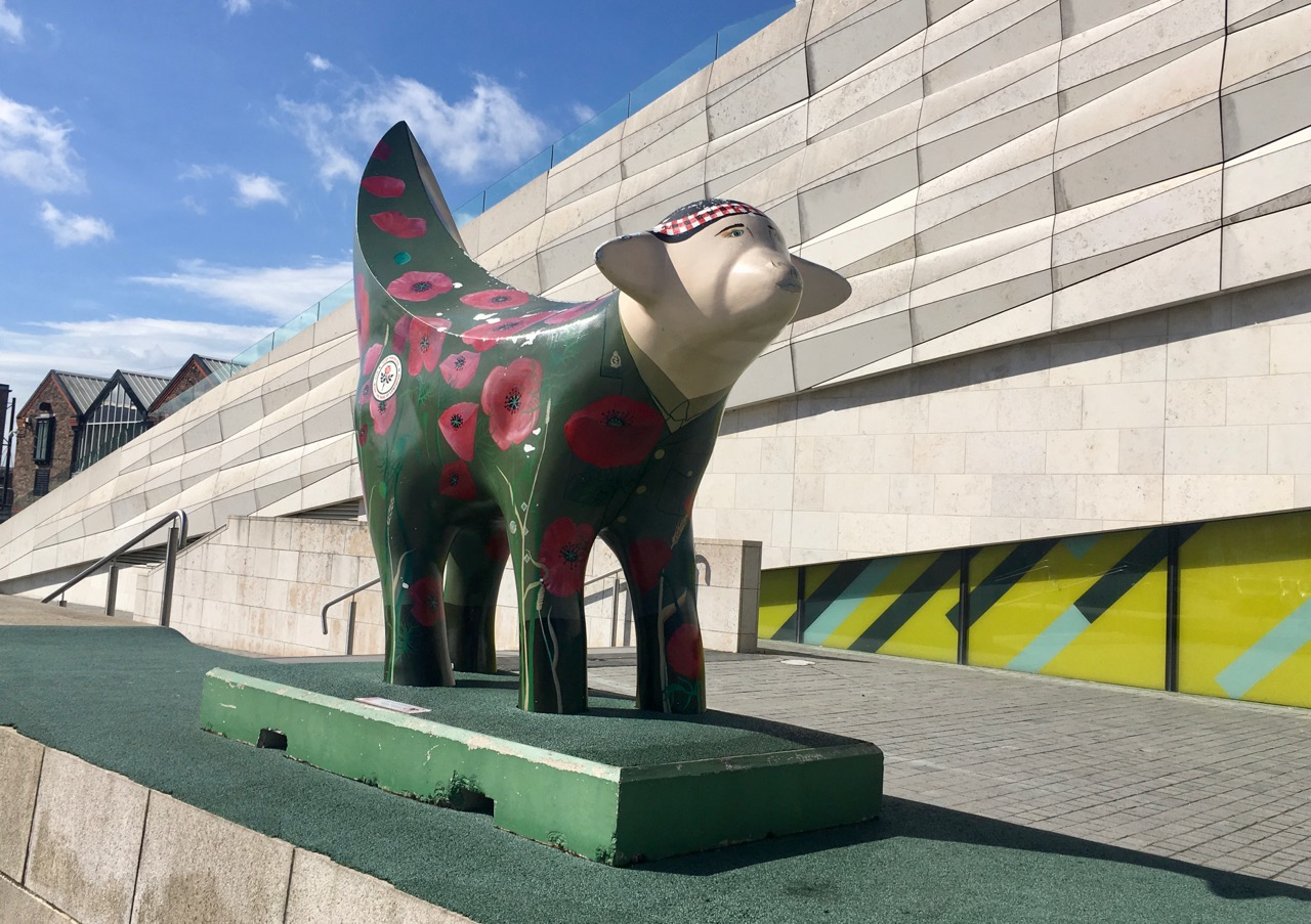 THE FIRST OF THE FOUR SUPERLAMBANANAS OUTSIDE THE MUSEUM OF LIVERPOOL