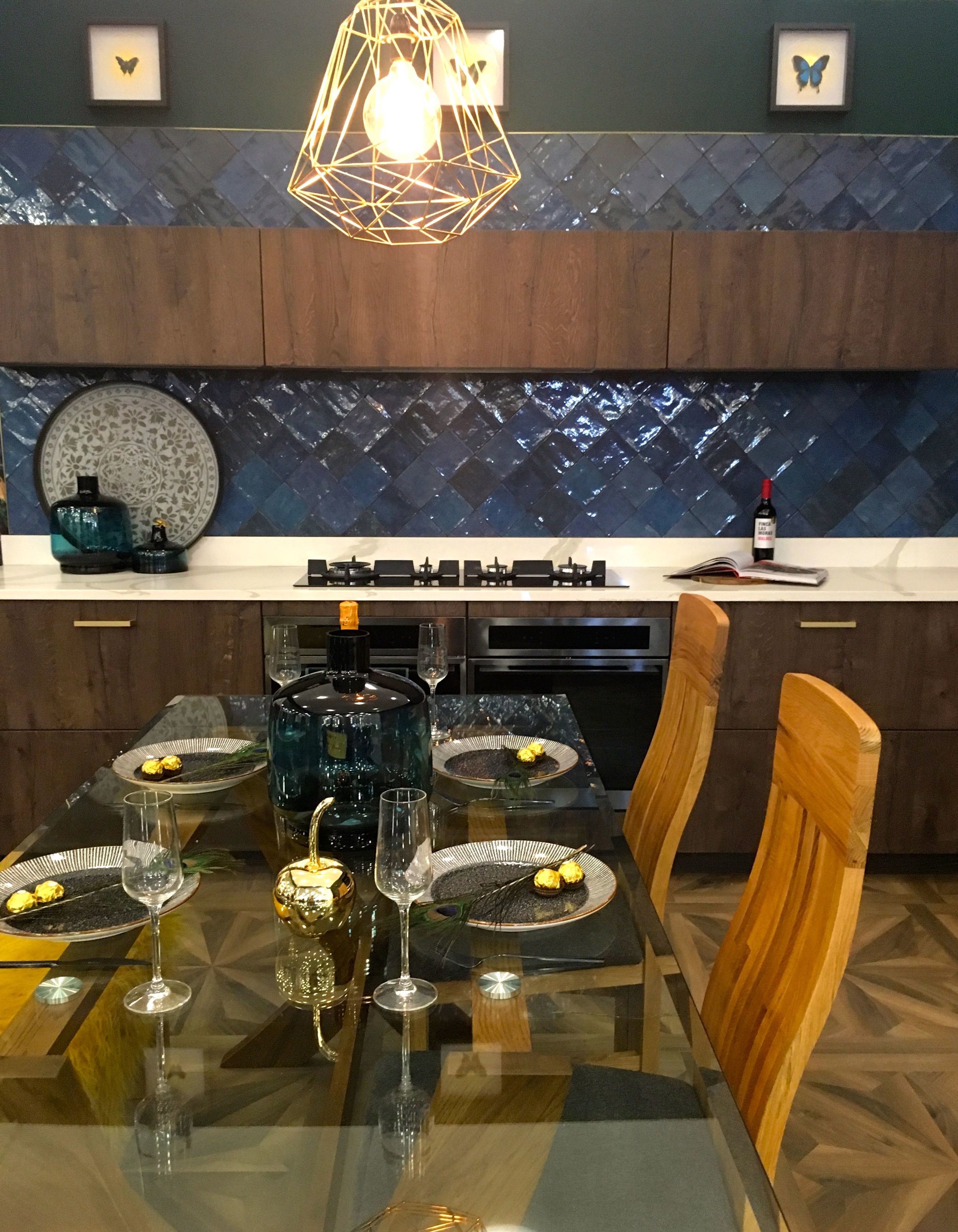 a dining space in the kitchen
