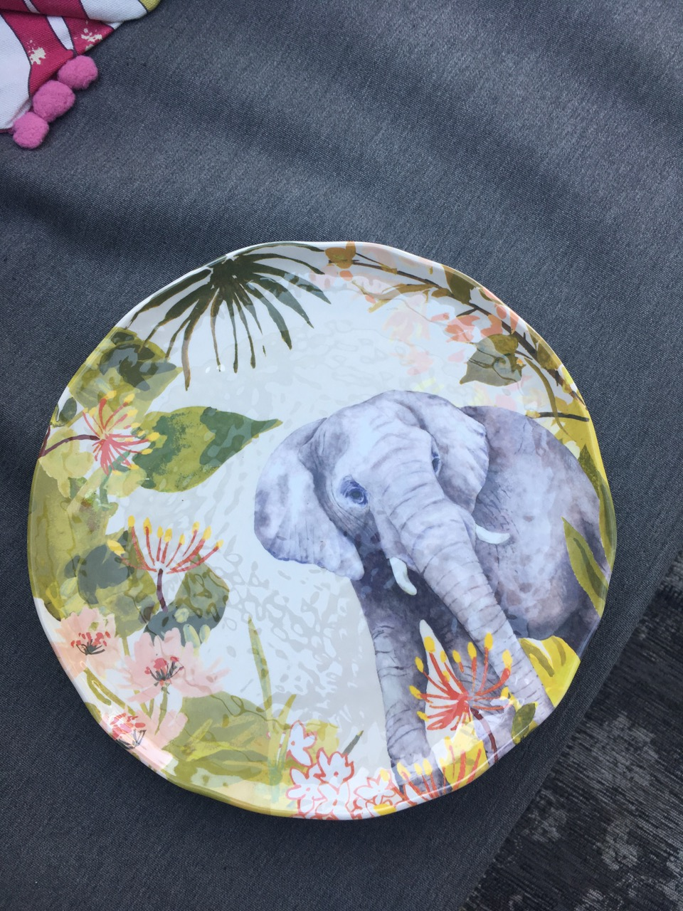 An elephant on my picnic plate