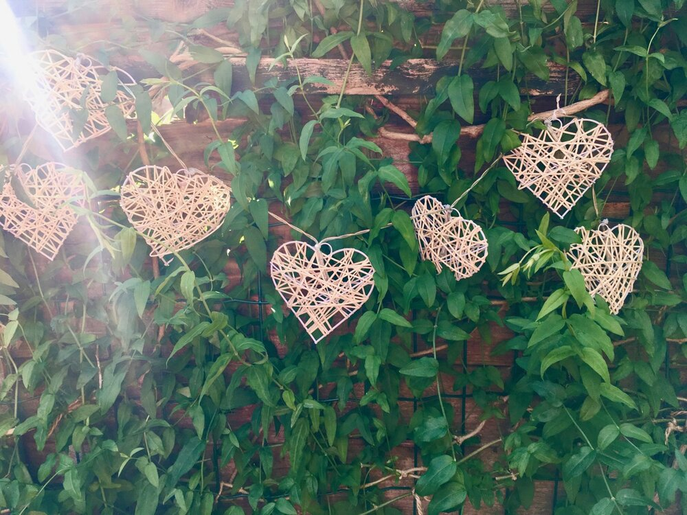 a garland of hearts