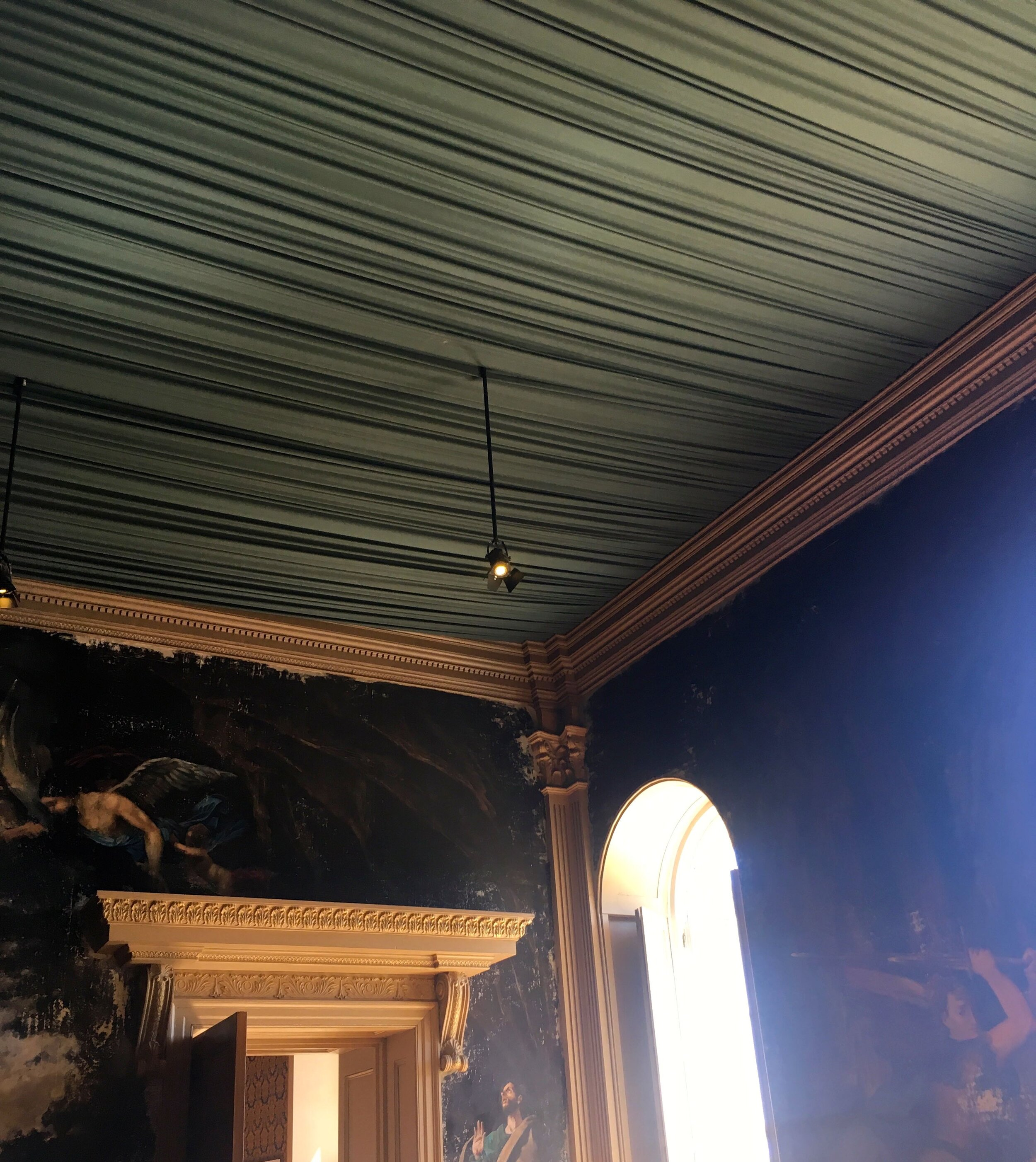 ruched fabric on the ceiling at Castle Howard