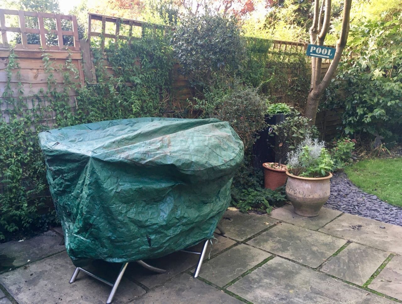 putting the garden furniture to bed