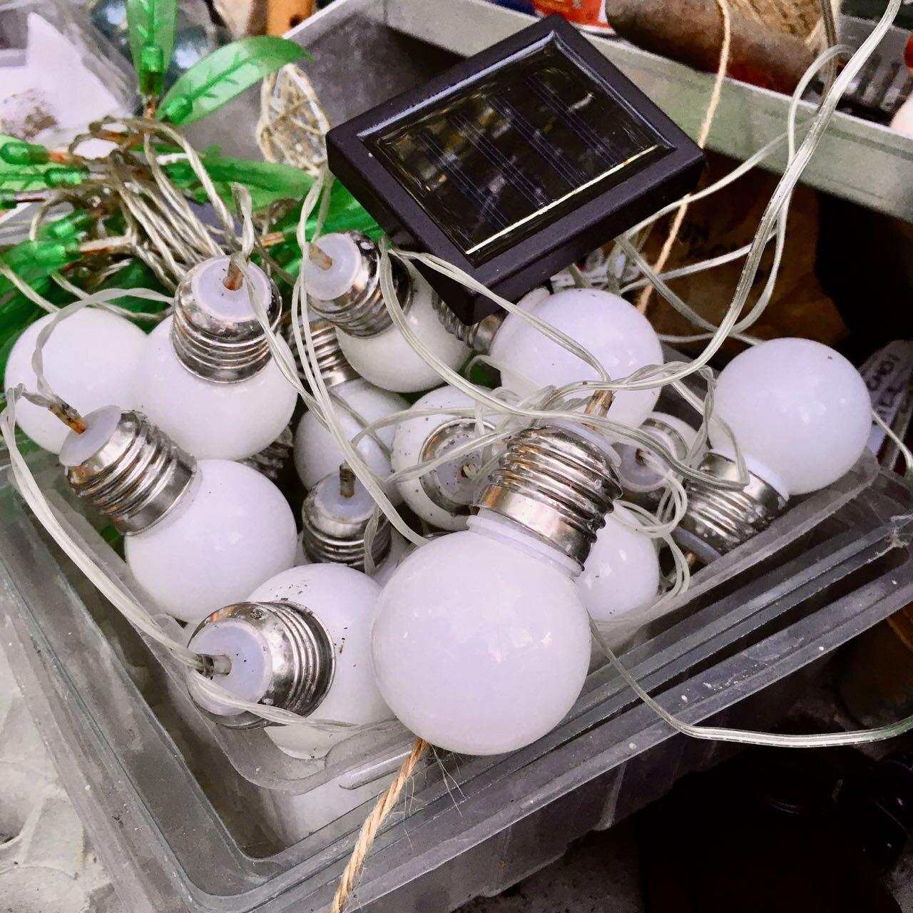 garden lights stored for the winter