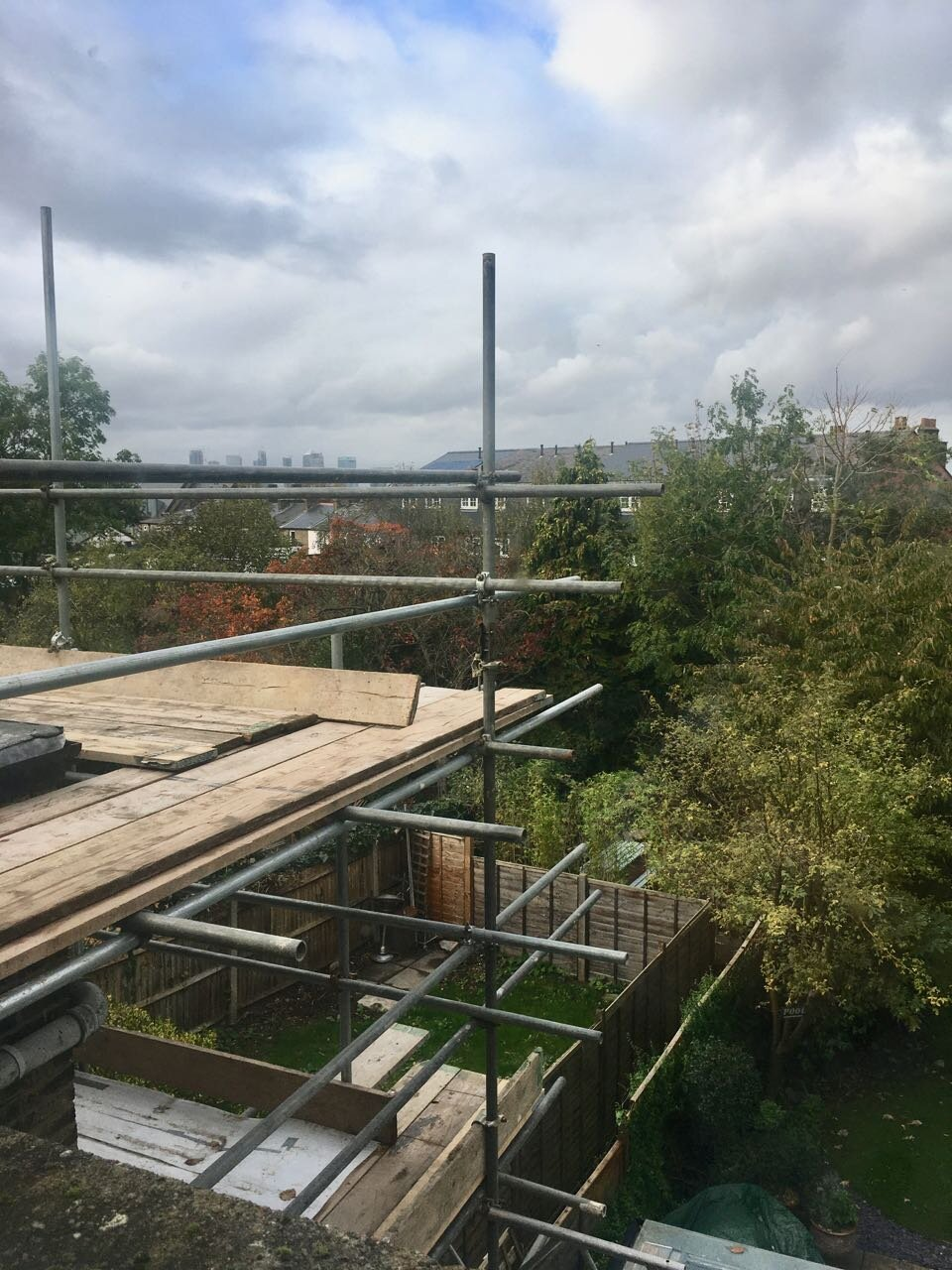 our view of next door's scaffolding