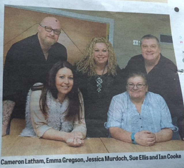 Some of the IMAGO Team who were interviewed for a newspaper.
