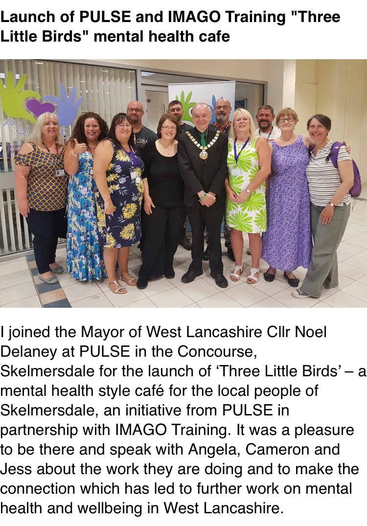 MP Rosie Cooper Attends #ThreeLittleBirds Launch - We were privileged by the attendance of MP Rosie Cooper who attended the launch of #ThreeLittleBirds Skelmersdale and we even featured in Rosies newsletter.