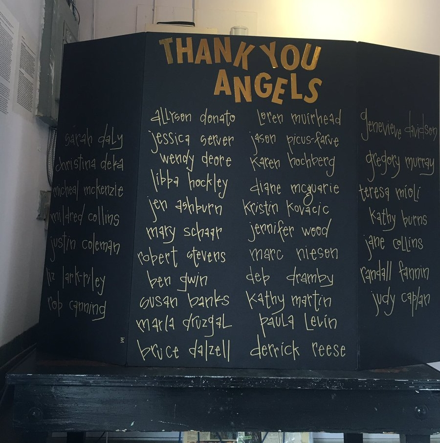 Thanks to all of our Angel donors