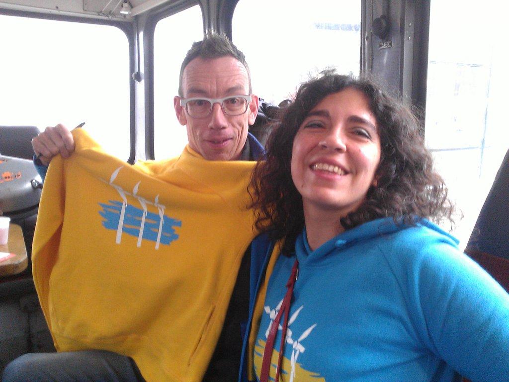 Op de foto met Dolf Jansen tijdens de klimaatparade in A'dam 29/11/2015