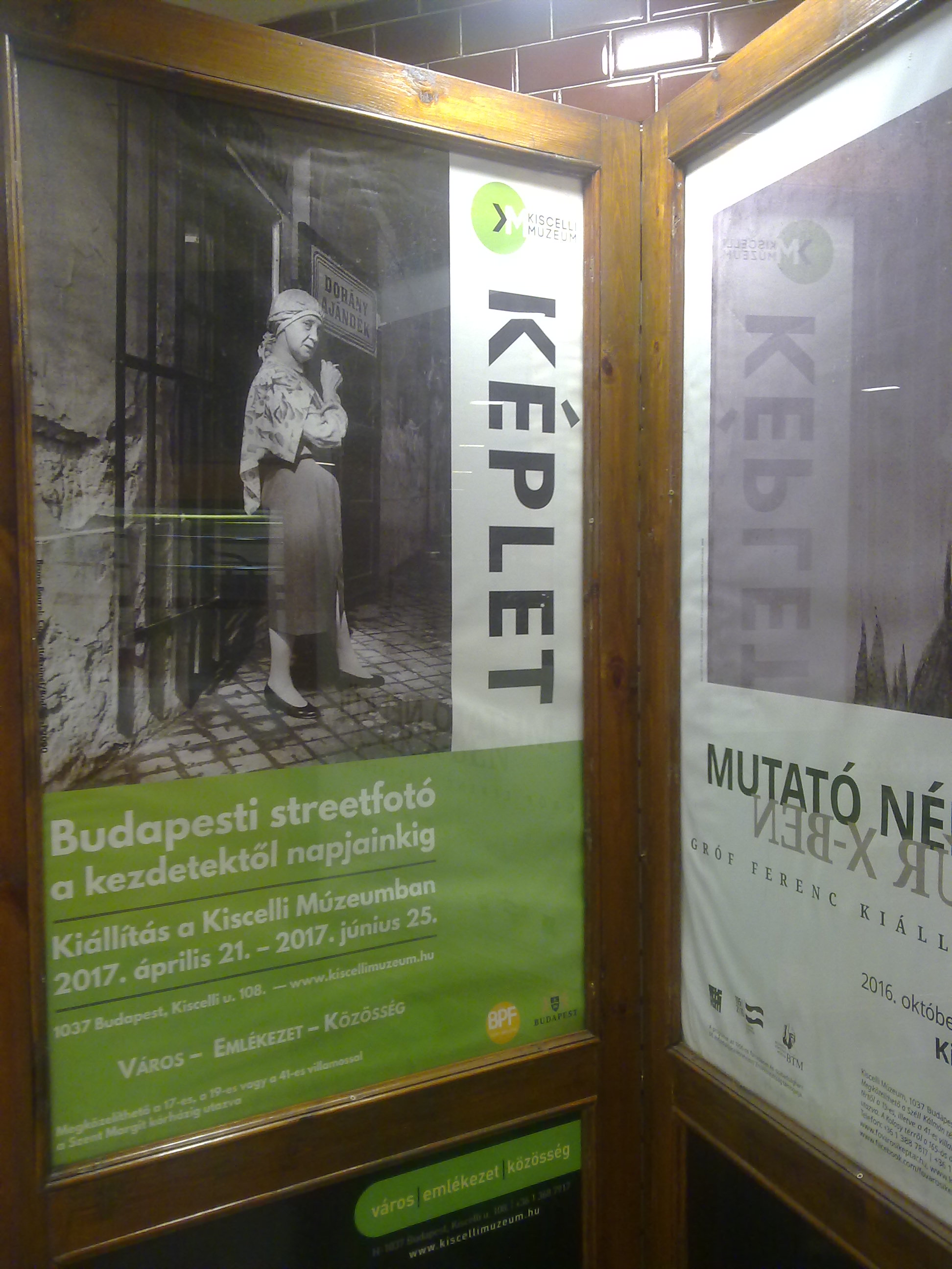 The poster announcing the show down in the Metro in Budapest !!!!