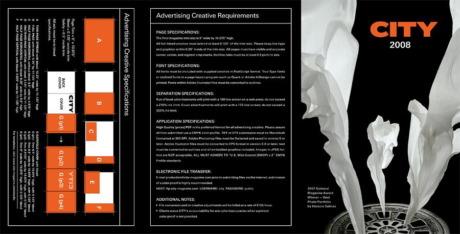 Tri-fold Media Kit brochure. 2008.