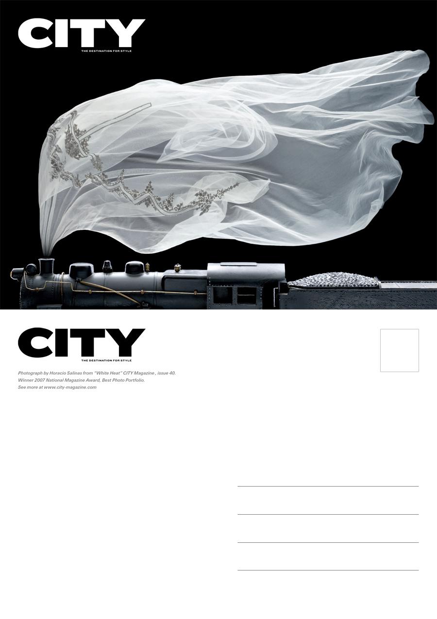 Promo postcard celebrating the 2007 ASME prize for Best Photo Portfolio. 2007.