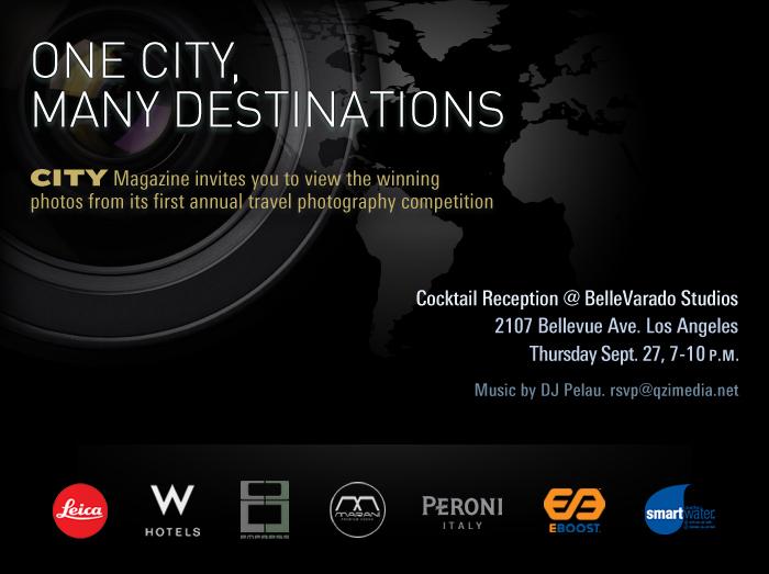 One City, Many Destinations photo contest LA event invitation. 2007.