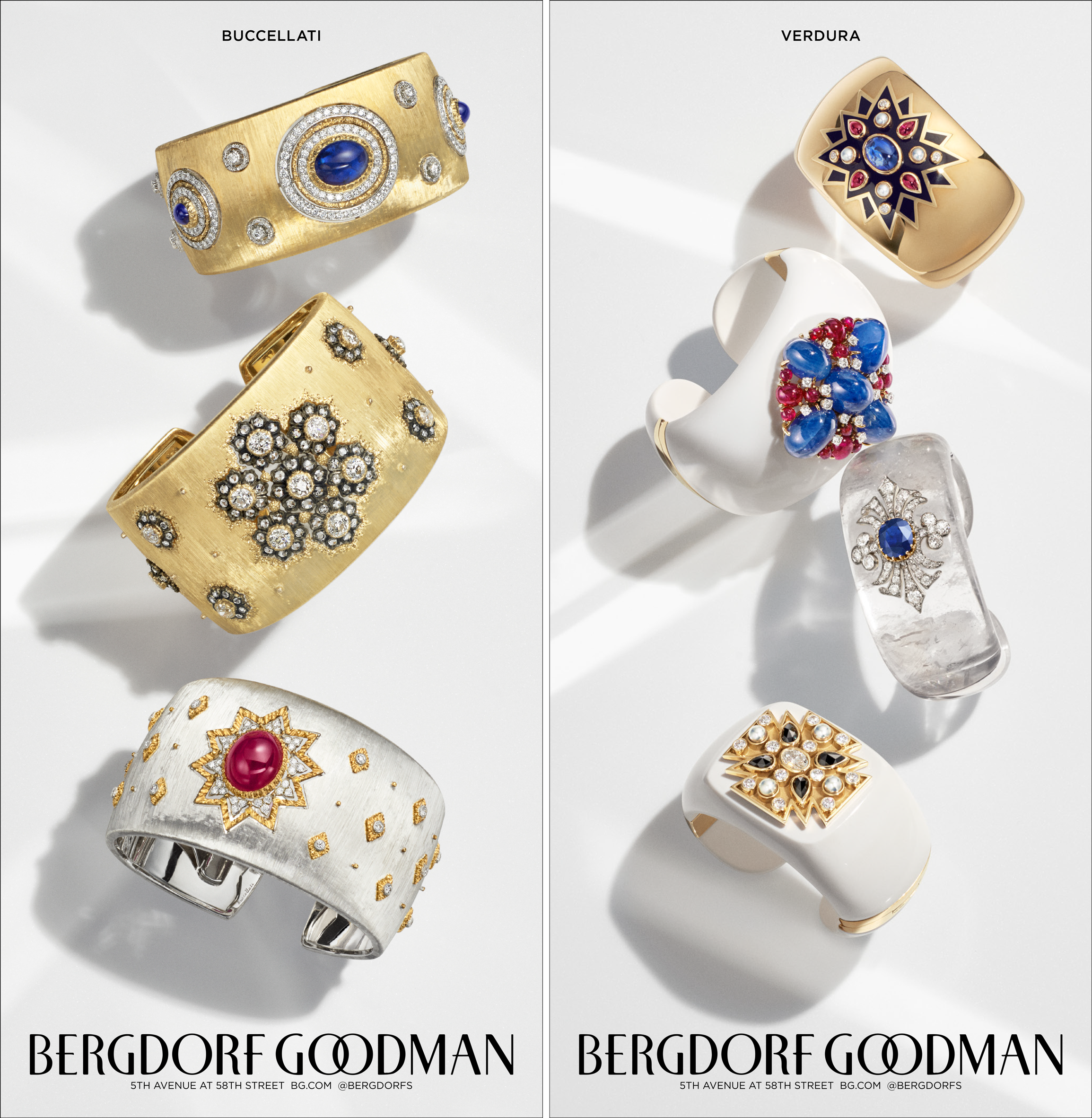 "Spring 2019 fine jewelry campaign advertisements in  The New York Times . 7.65 x 15.75"". Photo shoot Creative Direction and Design. Photographer Stephen Lewis, Prop Stylist Peter Tran."