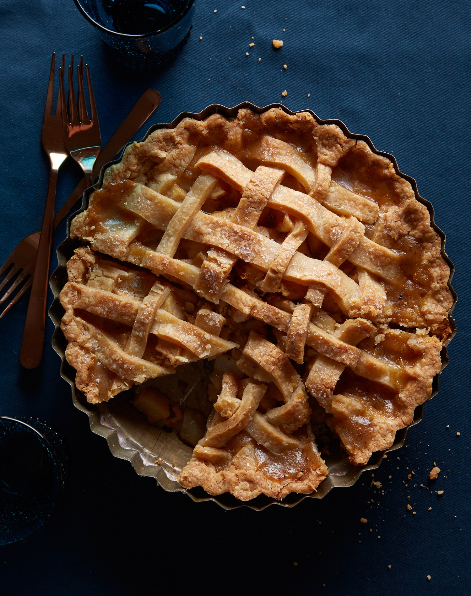 pear vanilla ginger black pepper lattice pie thanksgiving gluten free pie crust