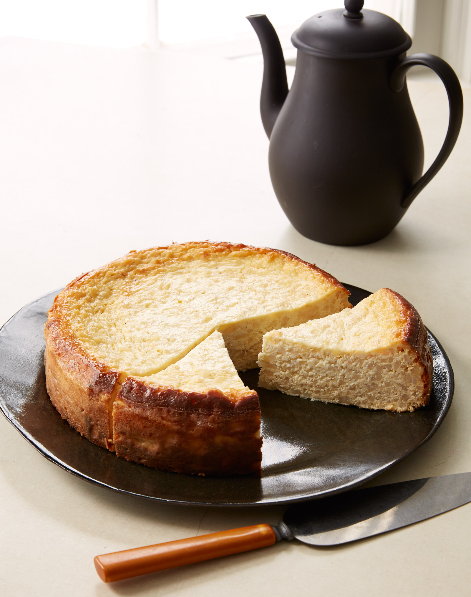 egg and rice gluten free cake with lemon