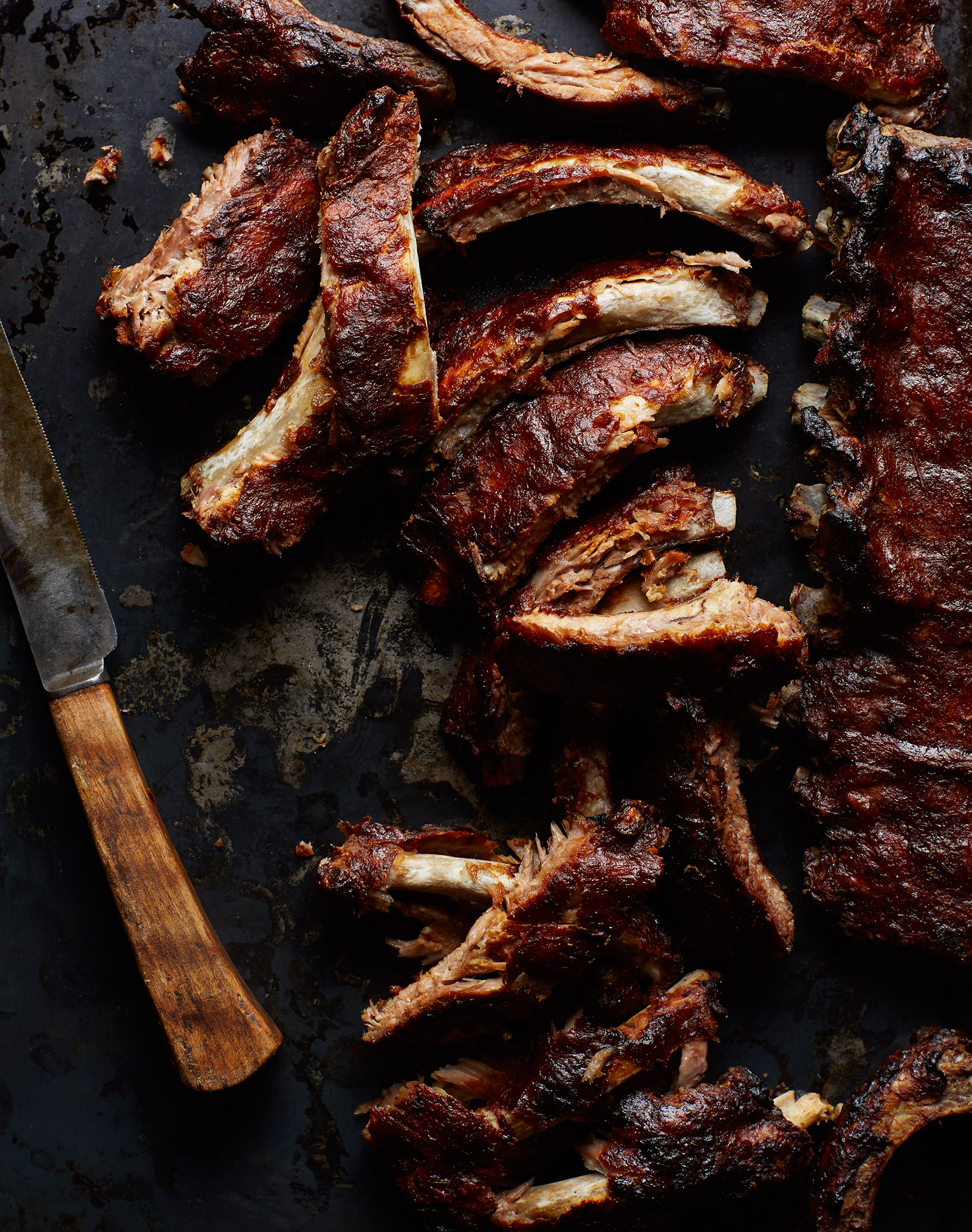 slow cooked rhubarb ribs