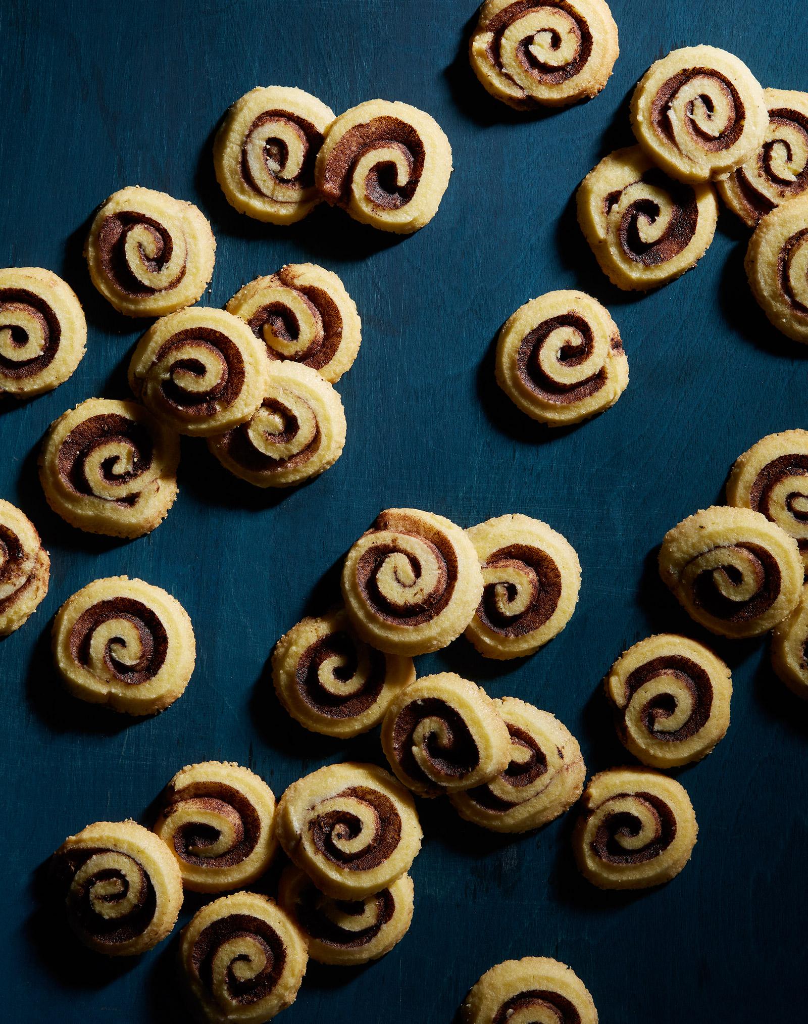 gluten free lemon anise cookies with cocoa swirl