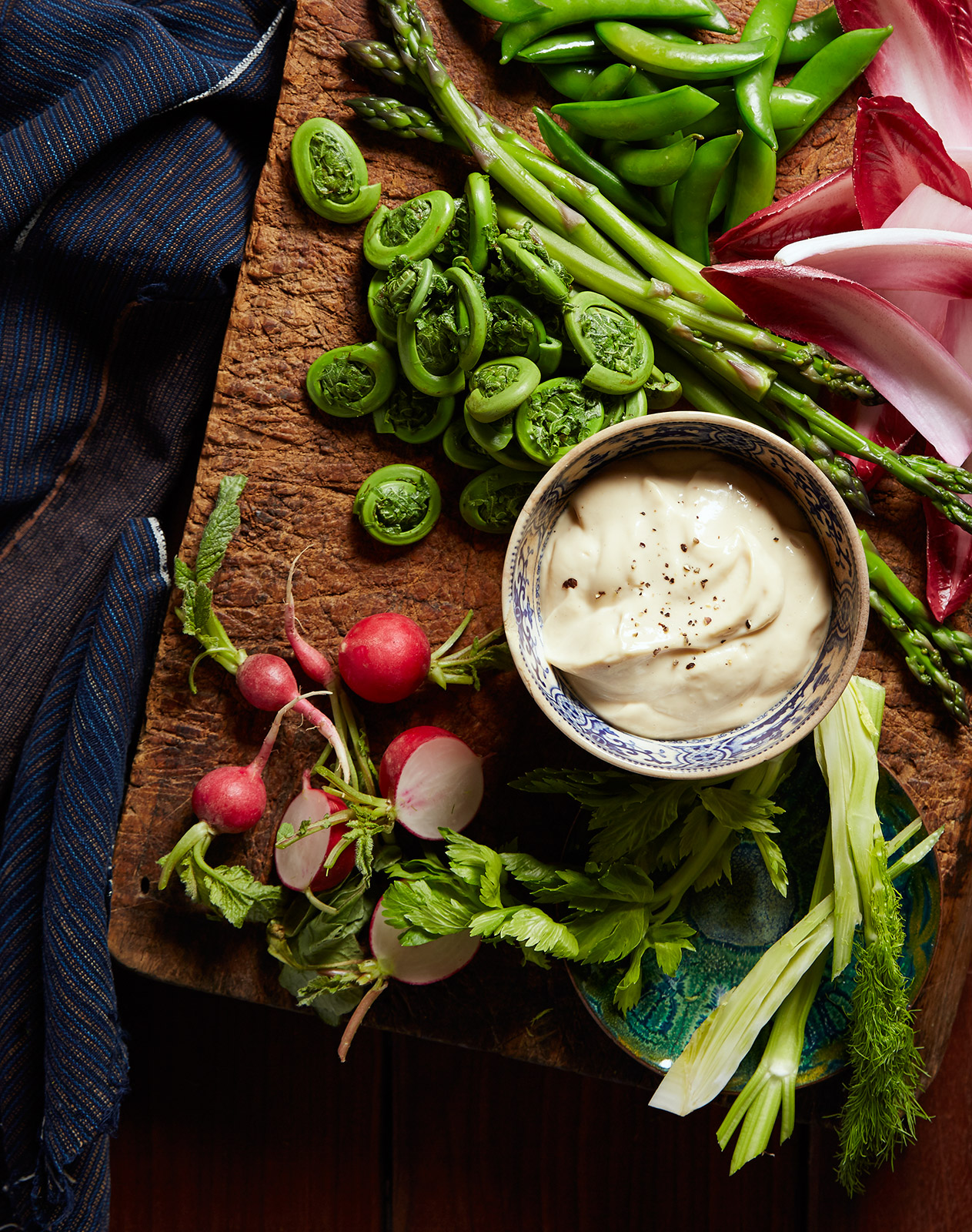 Miso Mayo Dip with Crudité Spring Vegetables