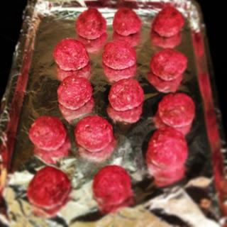 P.S. I swear the meatballs weren't hot pink... the camera got crazy!