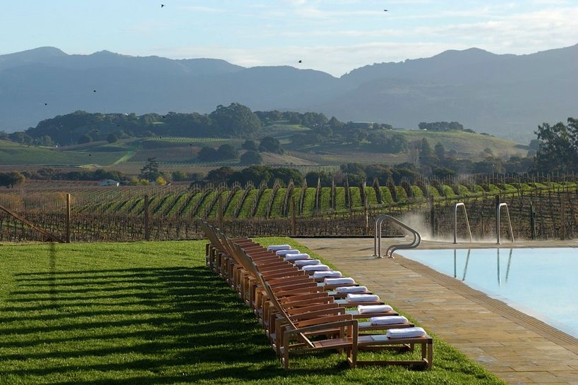 Great Pool overlooking the vineyards